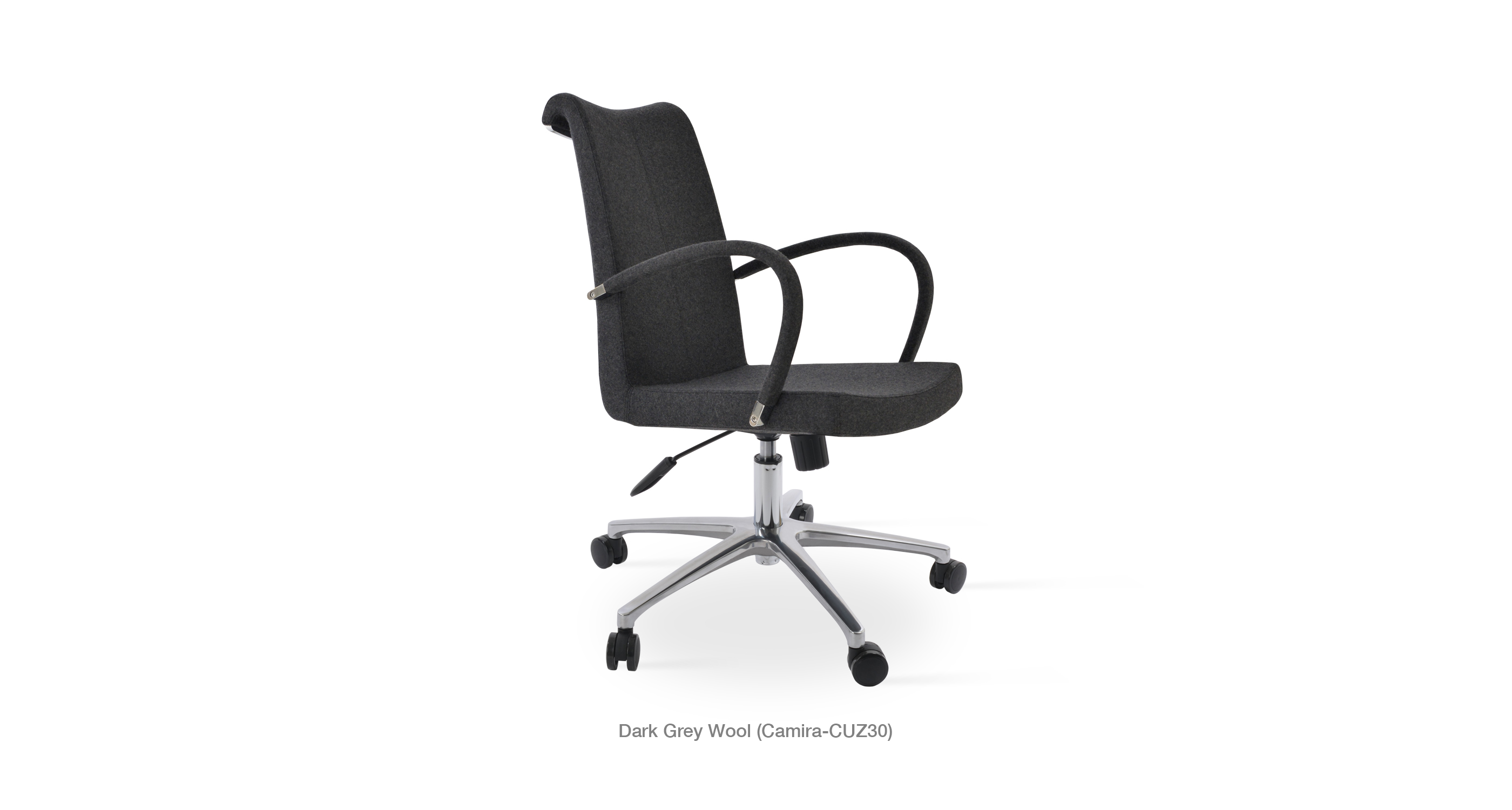 tulip arm office - dark grey wool