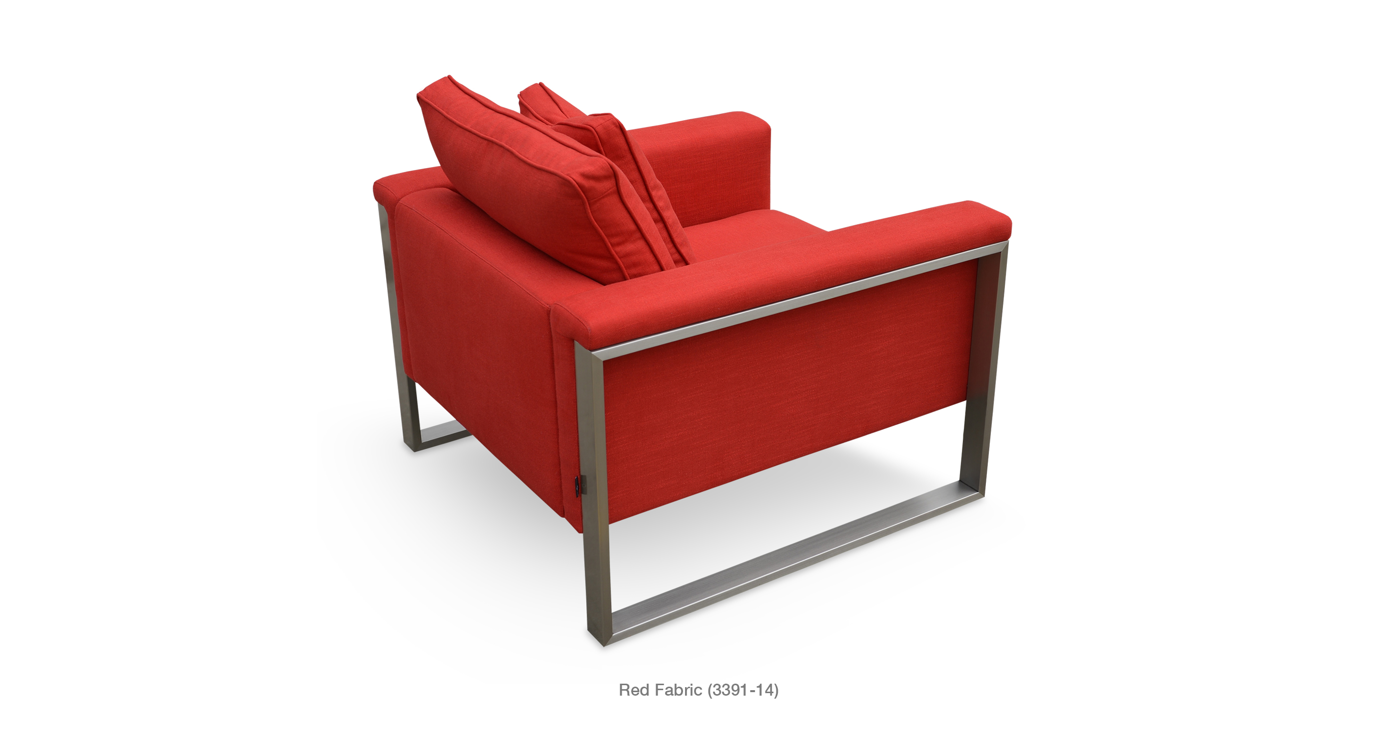 Boston Arm Chair Red Fabric