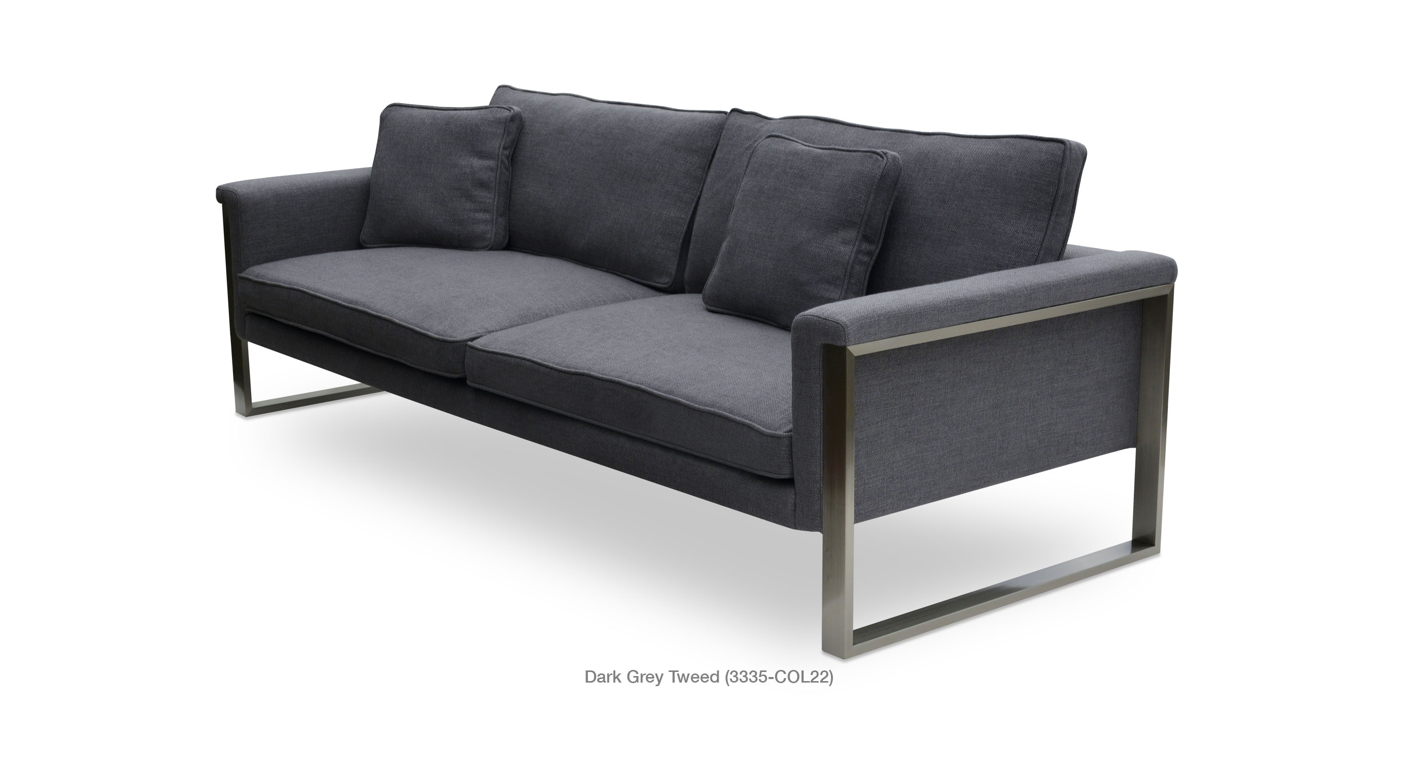 Boston Sofa dark grey tweed
