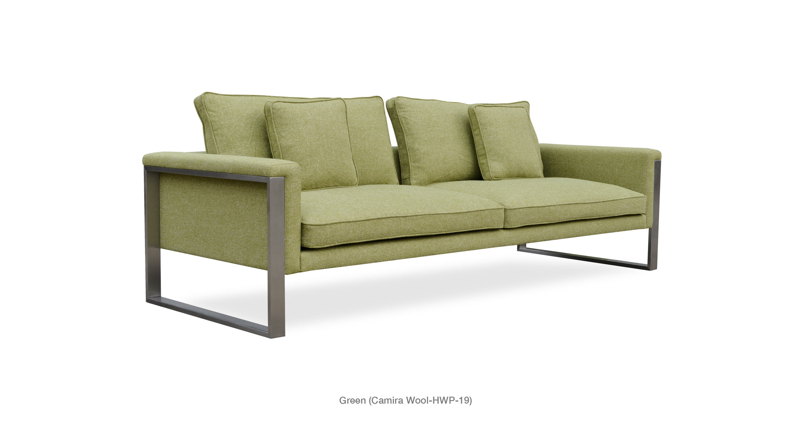 Boston Sofa Green Camira Wool