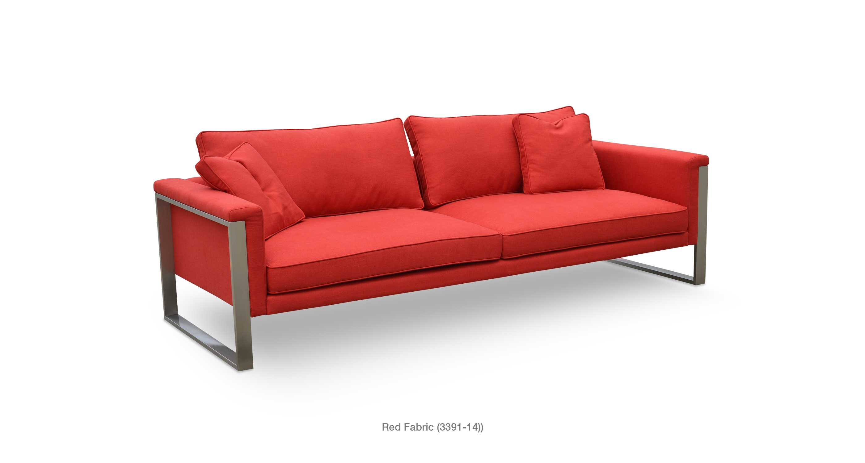 Boston Sofa Red Fabric