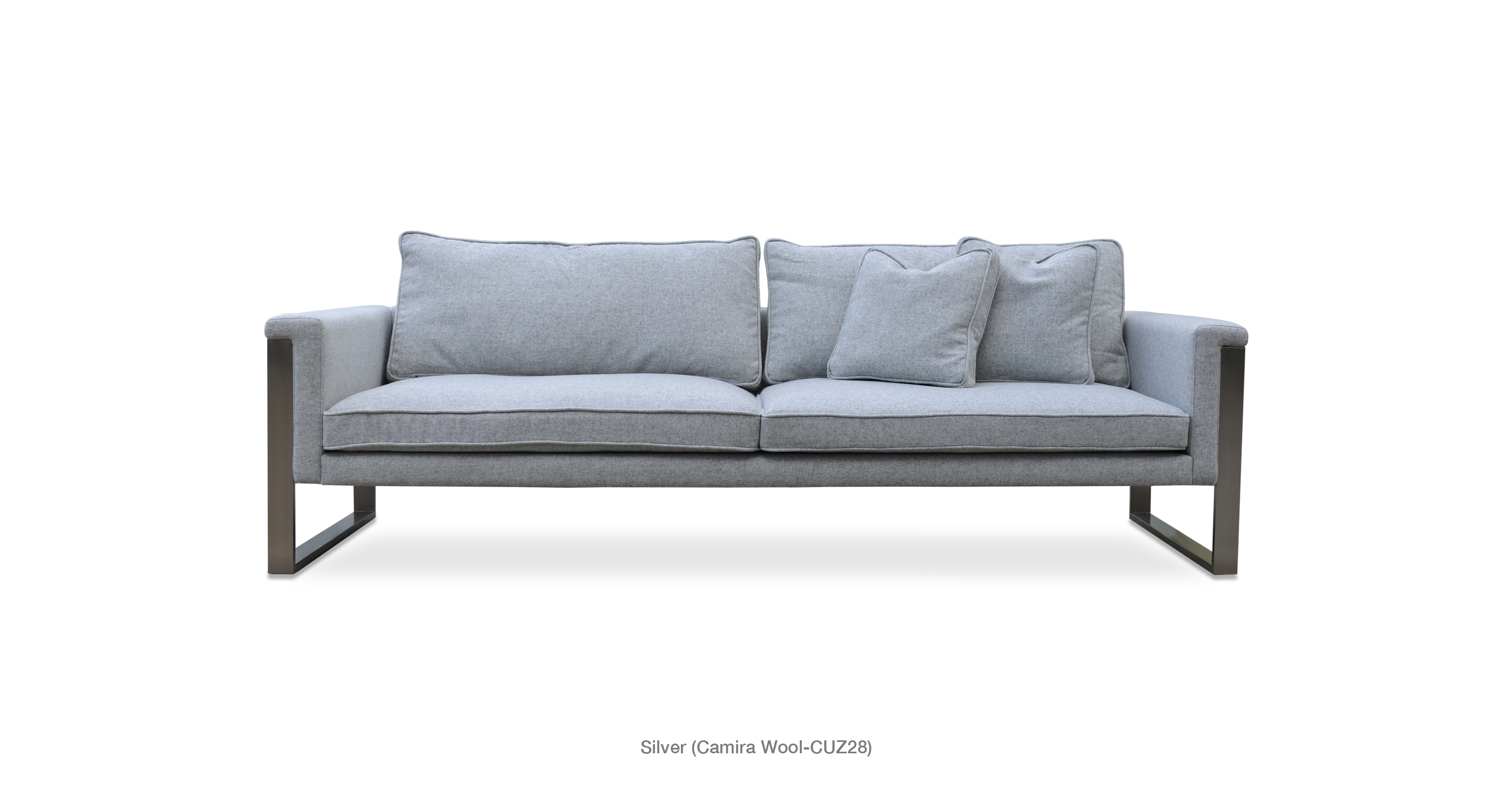 Superb Boston Sofa Silver Camira Wool