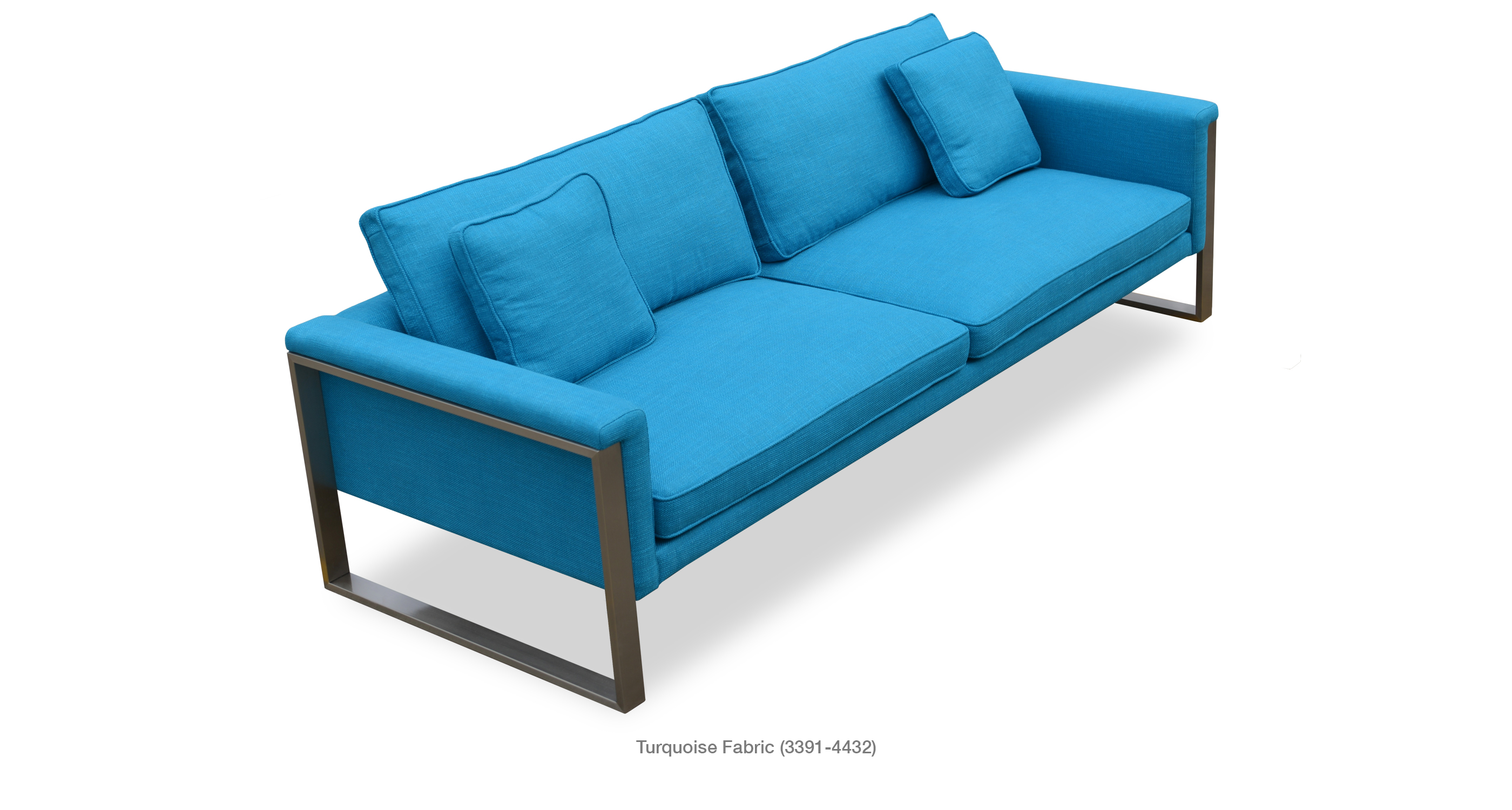 Boston Sofa Turquoise Fabric