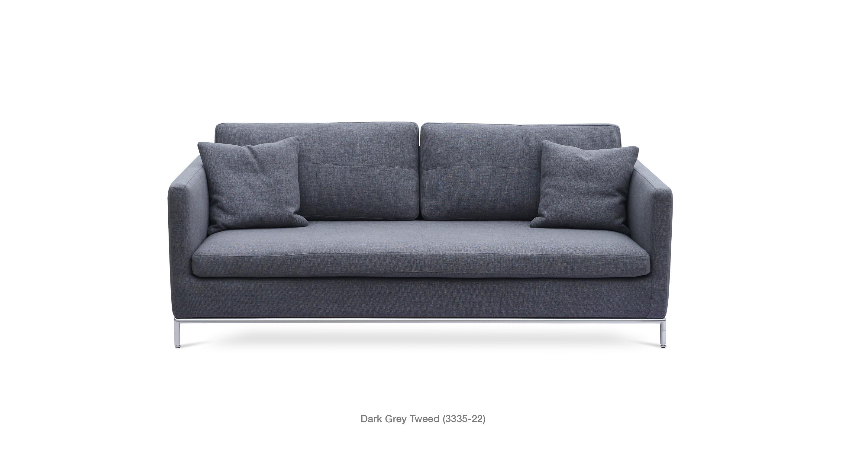 Istanbul Sofa Dark Grey Tweed