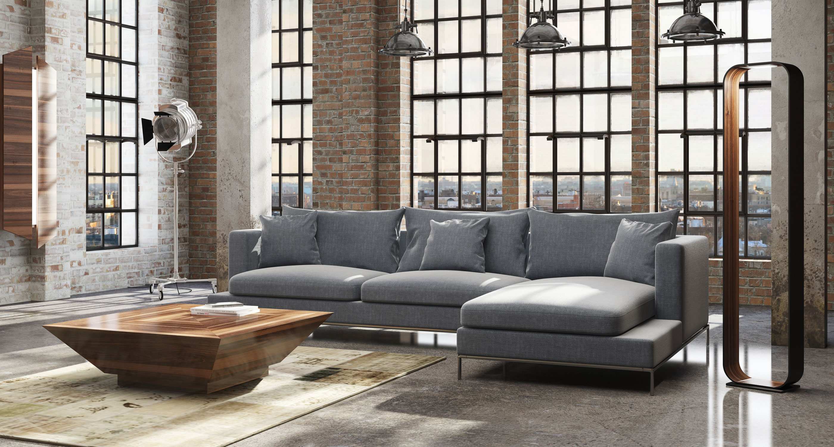 Simena Contemporary Sectional Sofas Sohoconcept