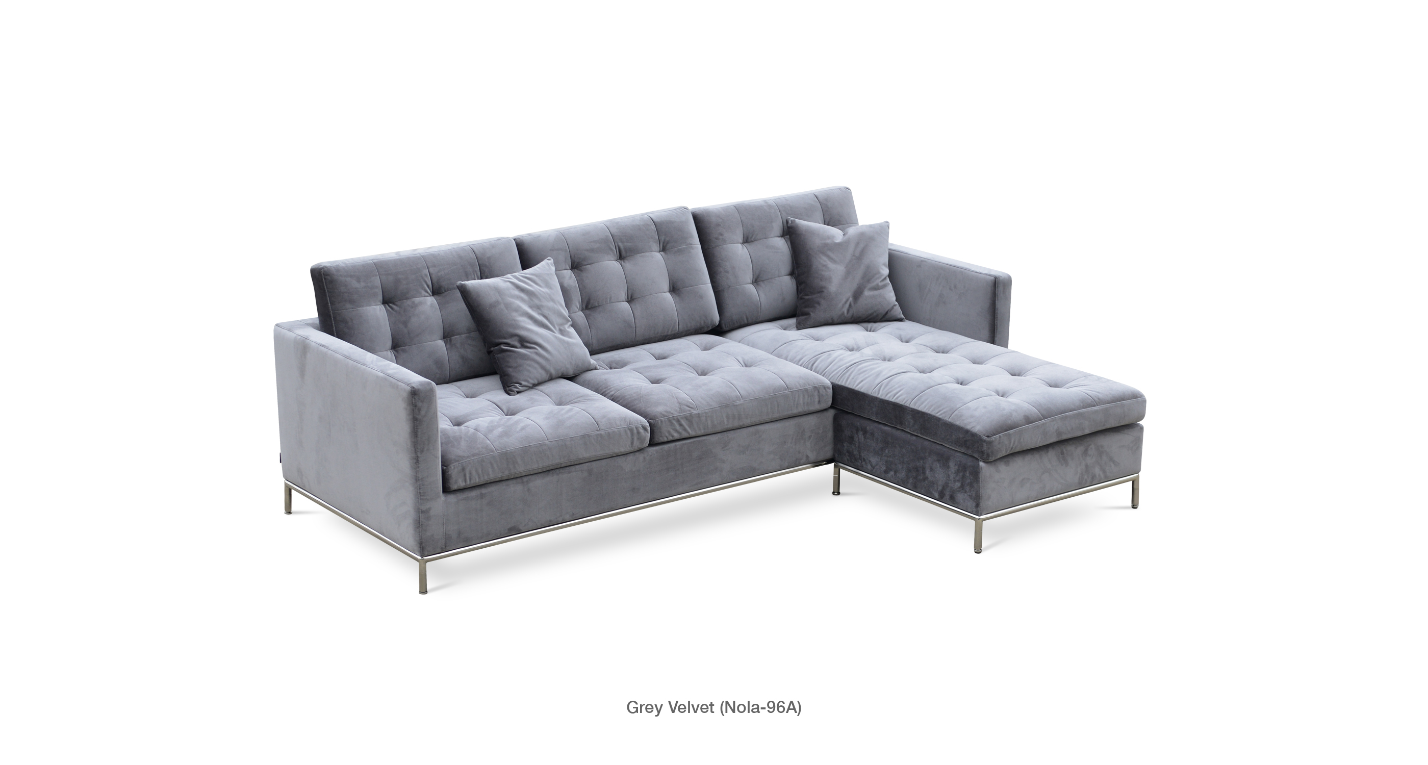 Taxim Sectional Grey Velvet