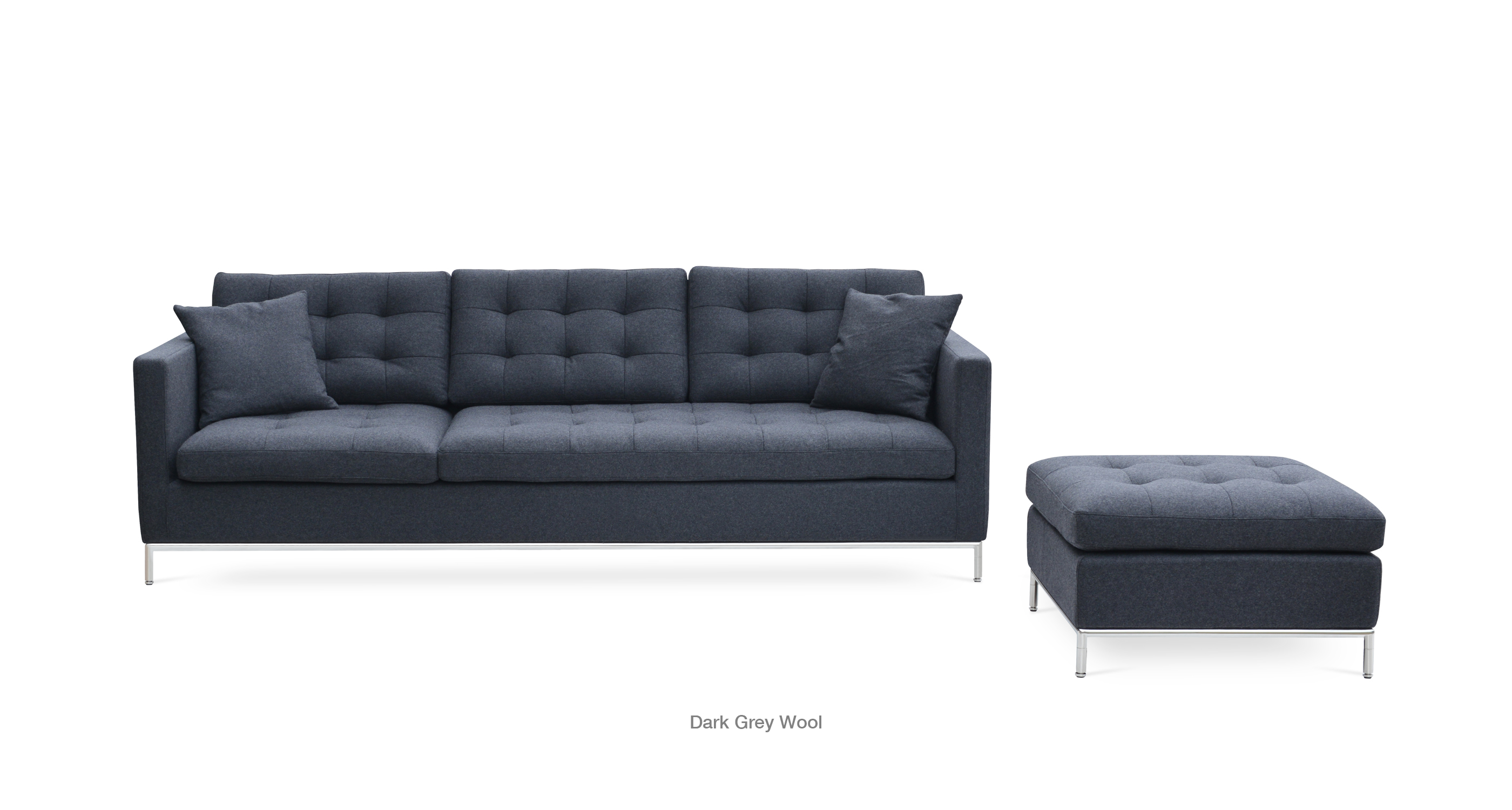 Taxim Sectional Dark Grey Wool