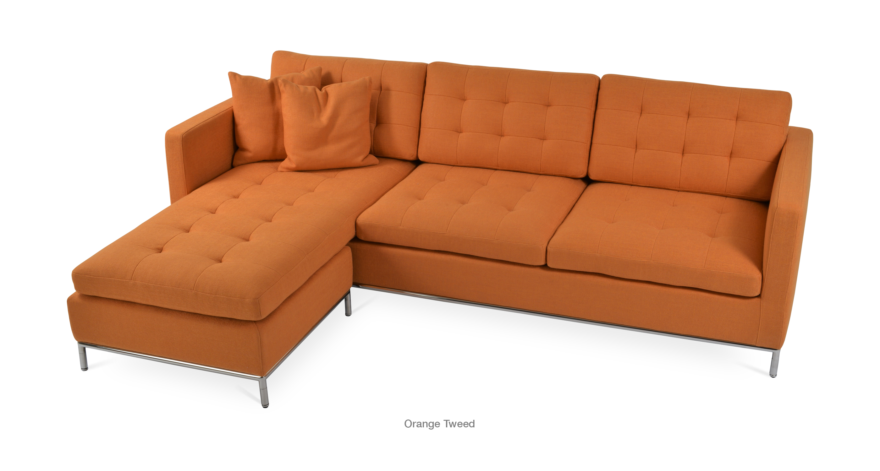 dark sectional lm with ottoman ottomanv collection orange brown county walden kmx