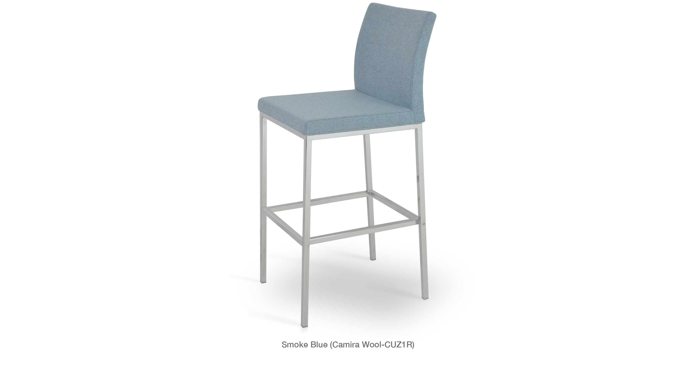 Aria Stool Chrome Smoke Blue