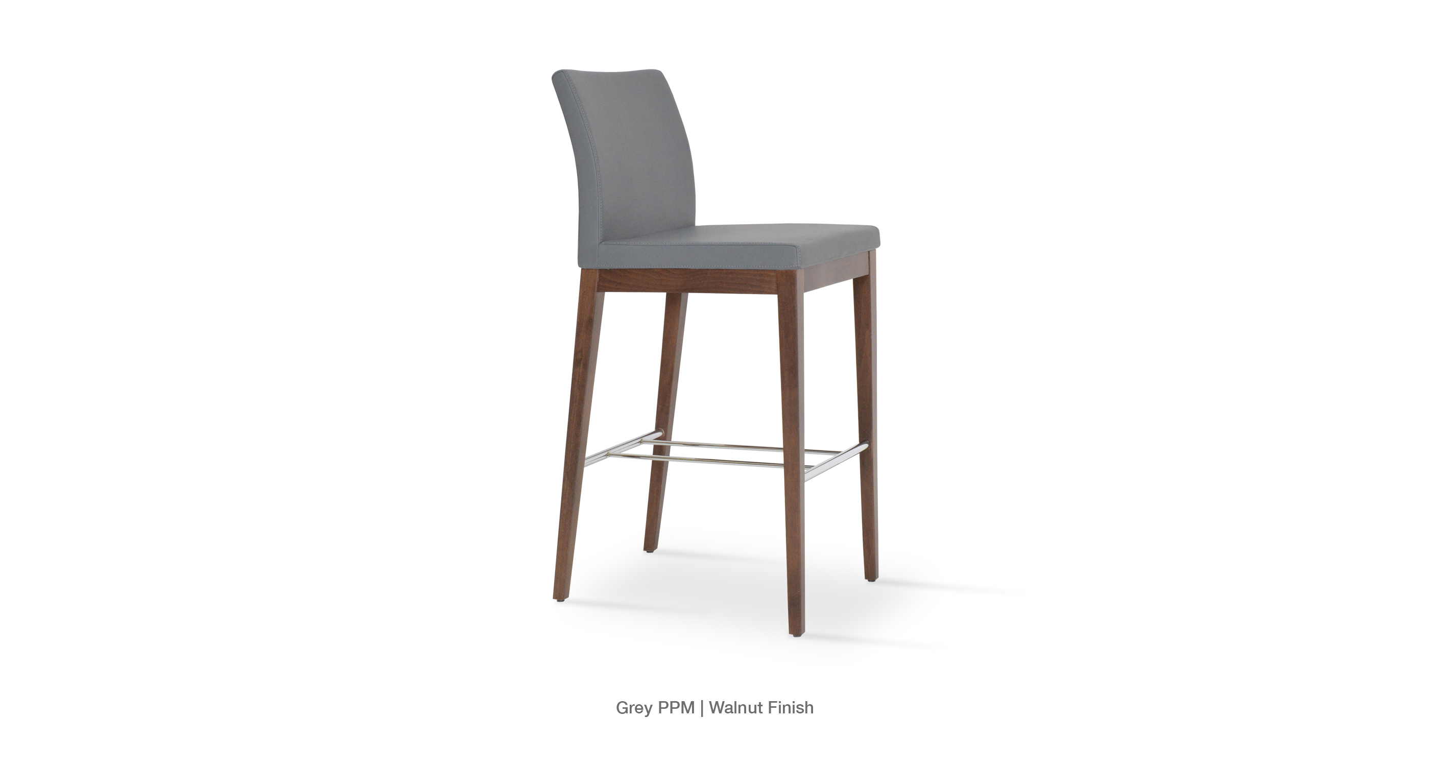 Aria Stool Wood   Grey Ppm