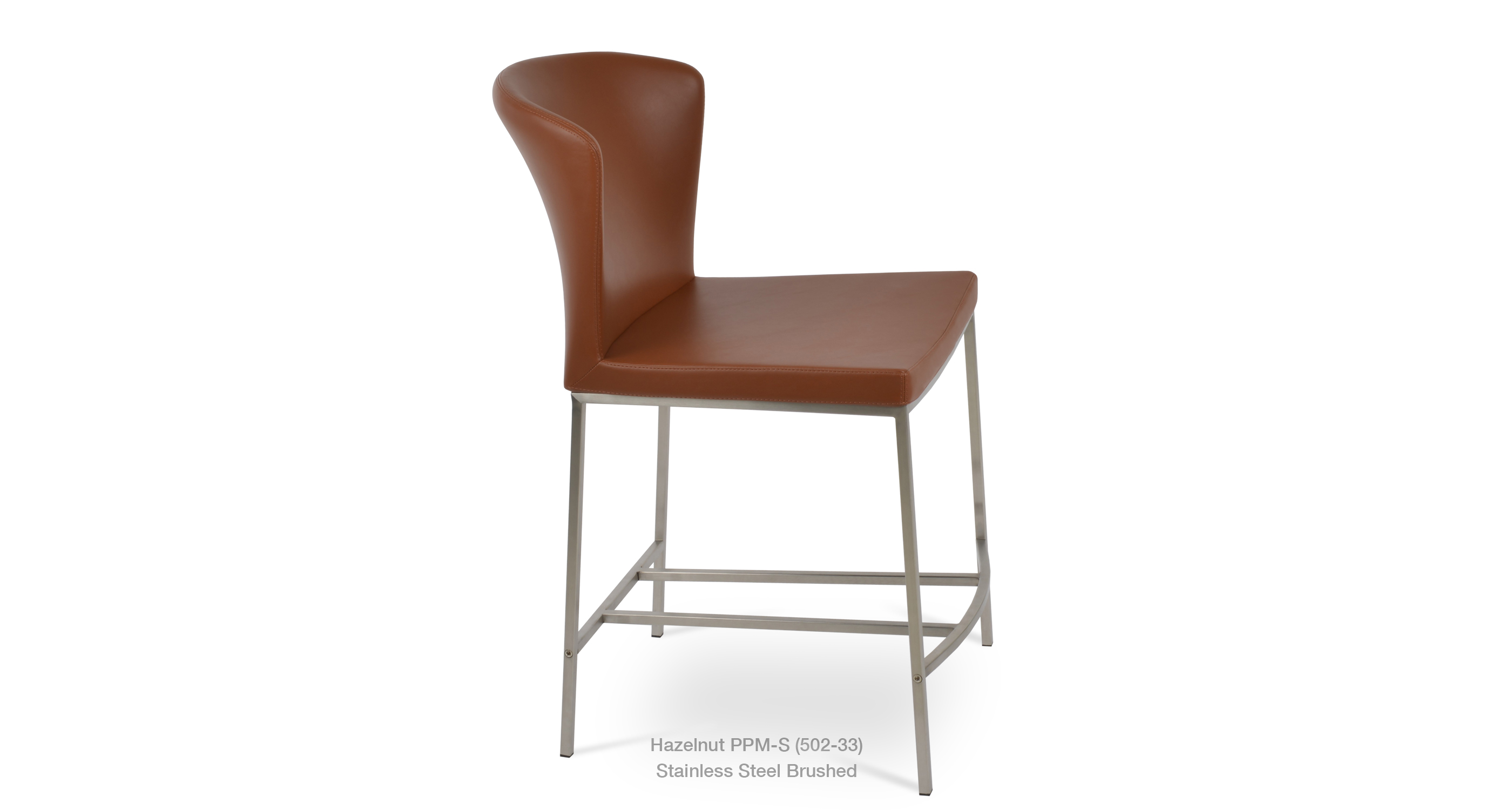 2020 01 28 Capri Stool Stainless Steel Hazelnut