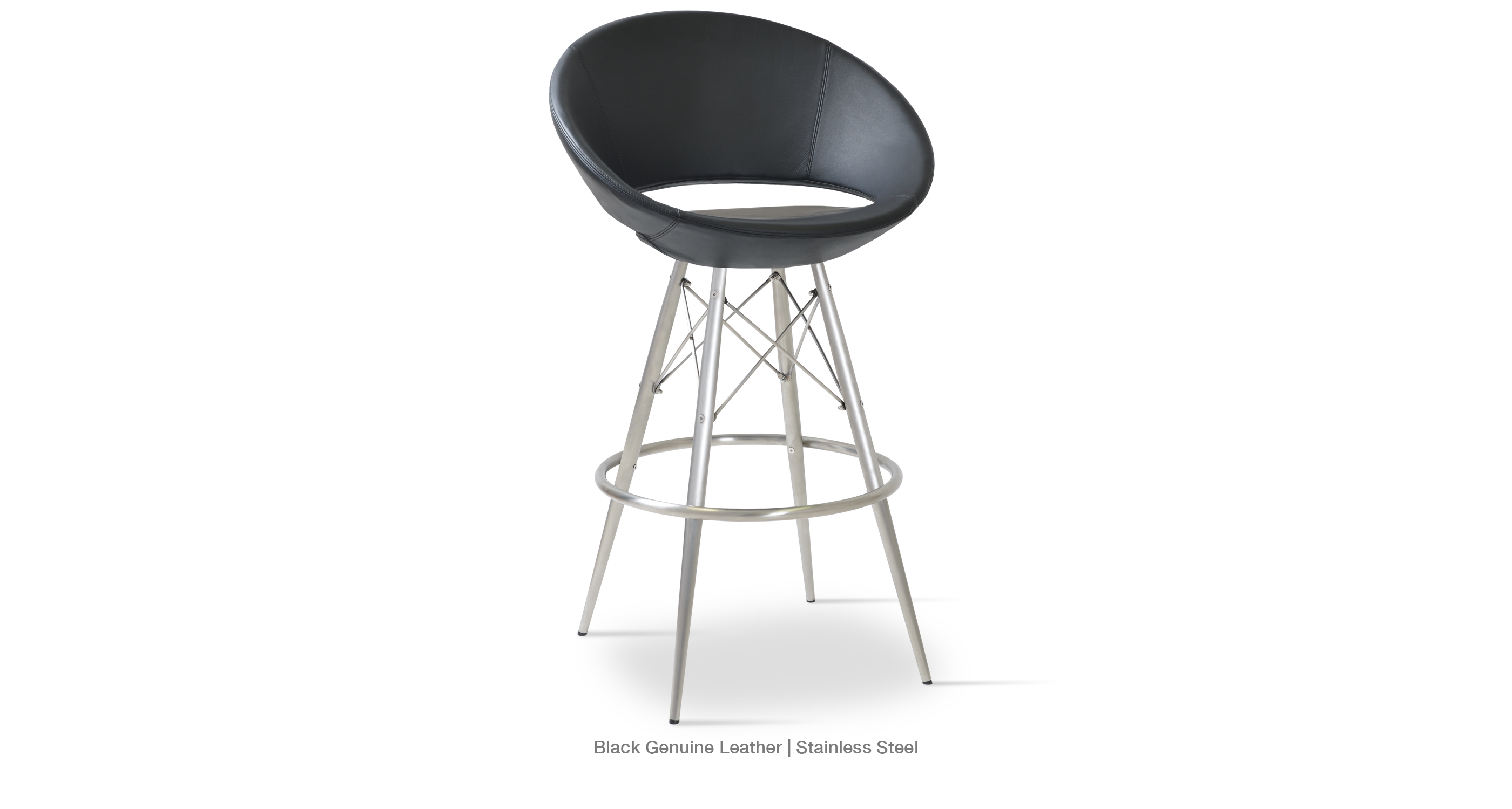 Crescent Mw Stool Black Stainless Steel