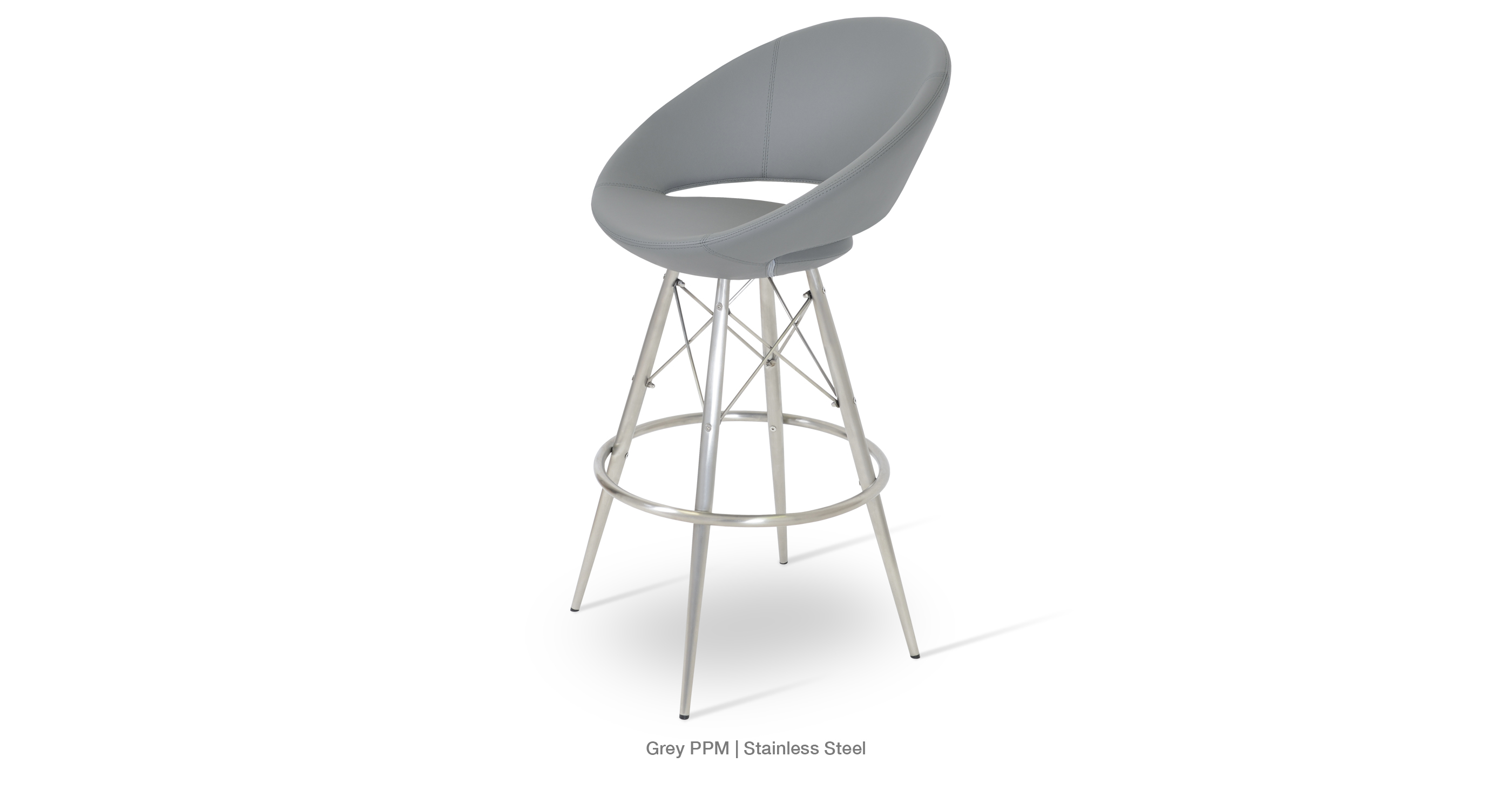Crescent Mw Stool Grey Ppm