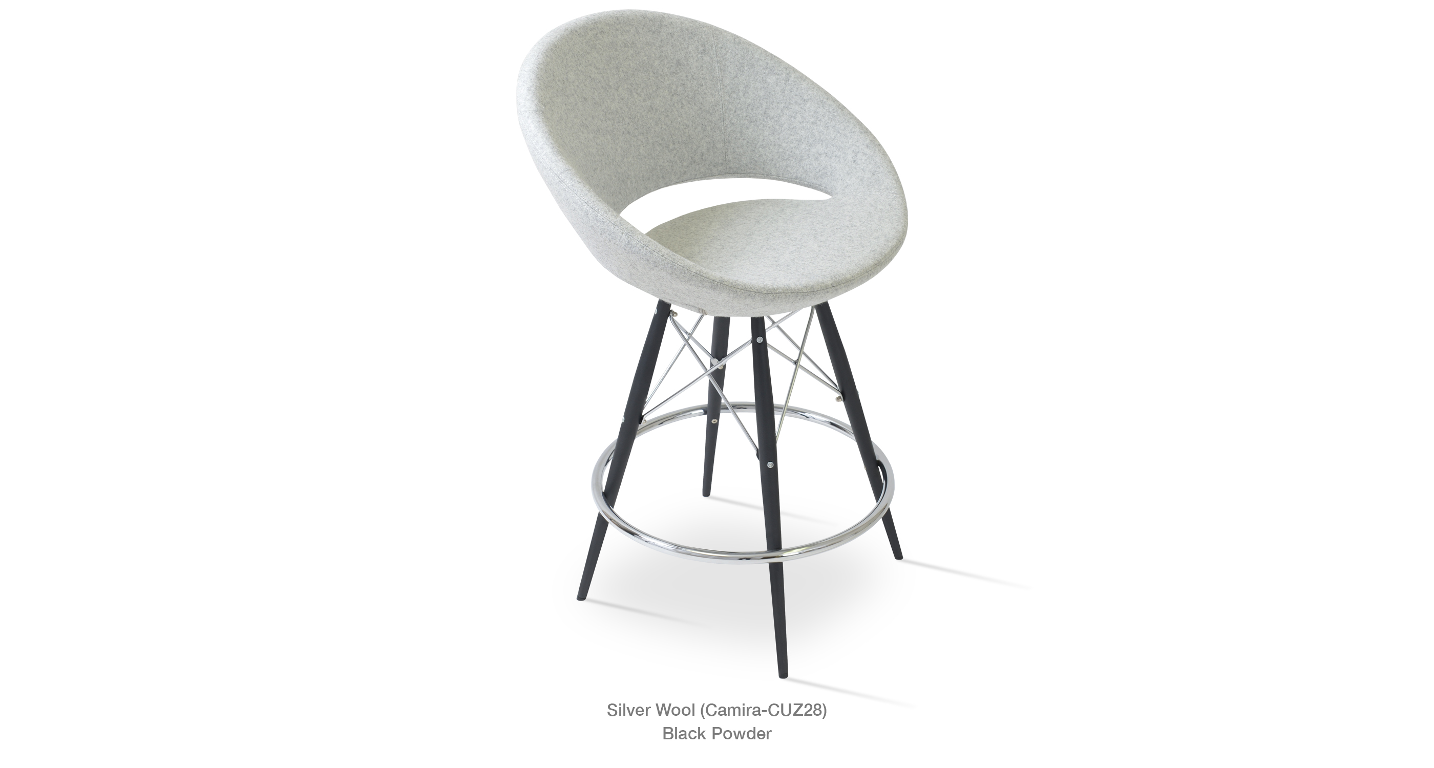Crescent Mw Stool Silver