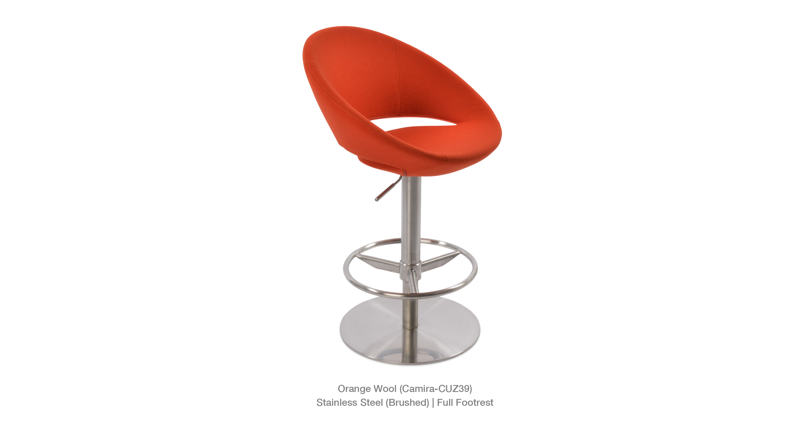 Crescent Piston Orange Wool Camira