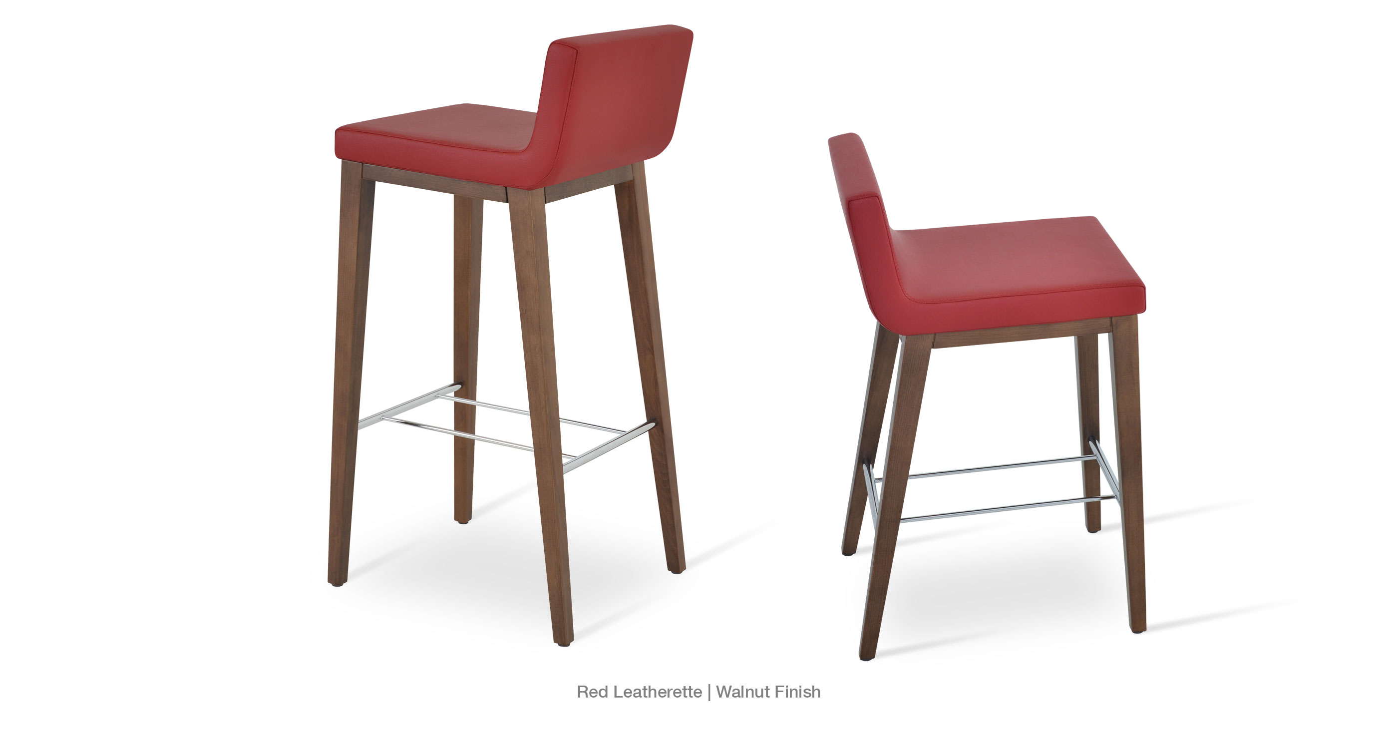 Dallas Wood Stool Red