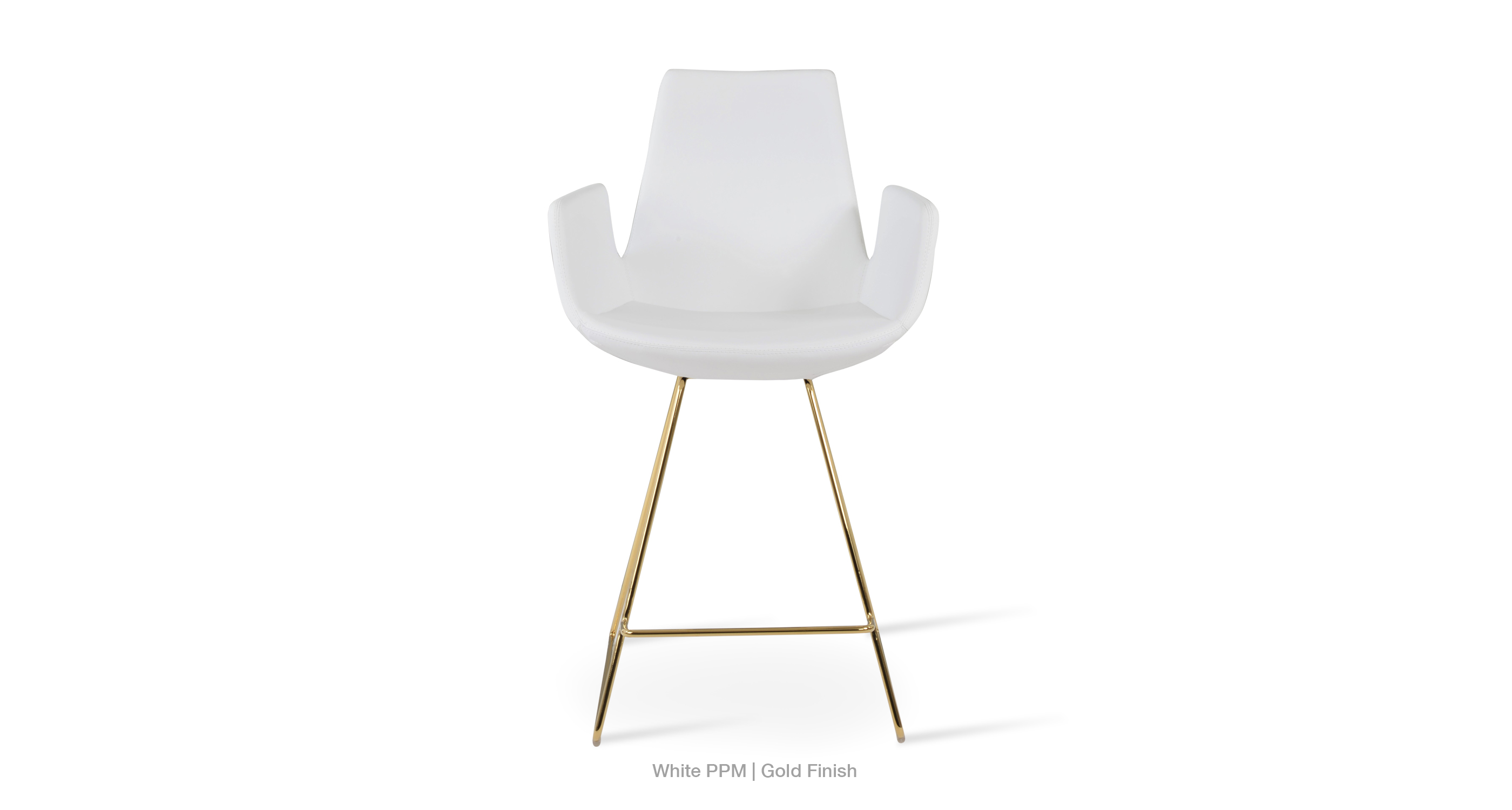 2020 02 23 Eiffel Arm Wire Stool White Ppm Gold