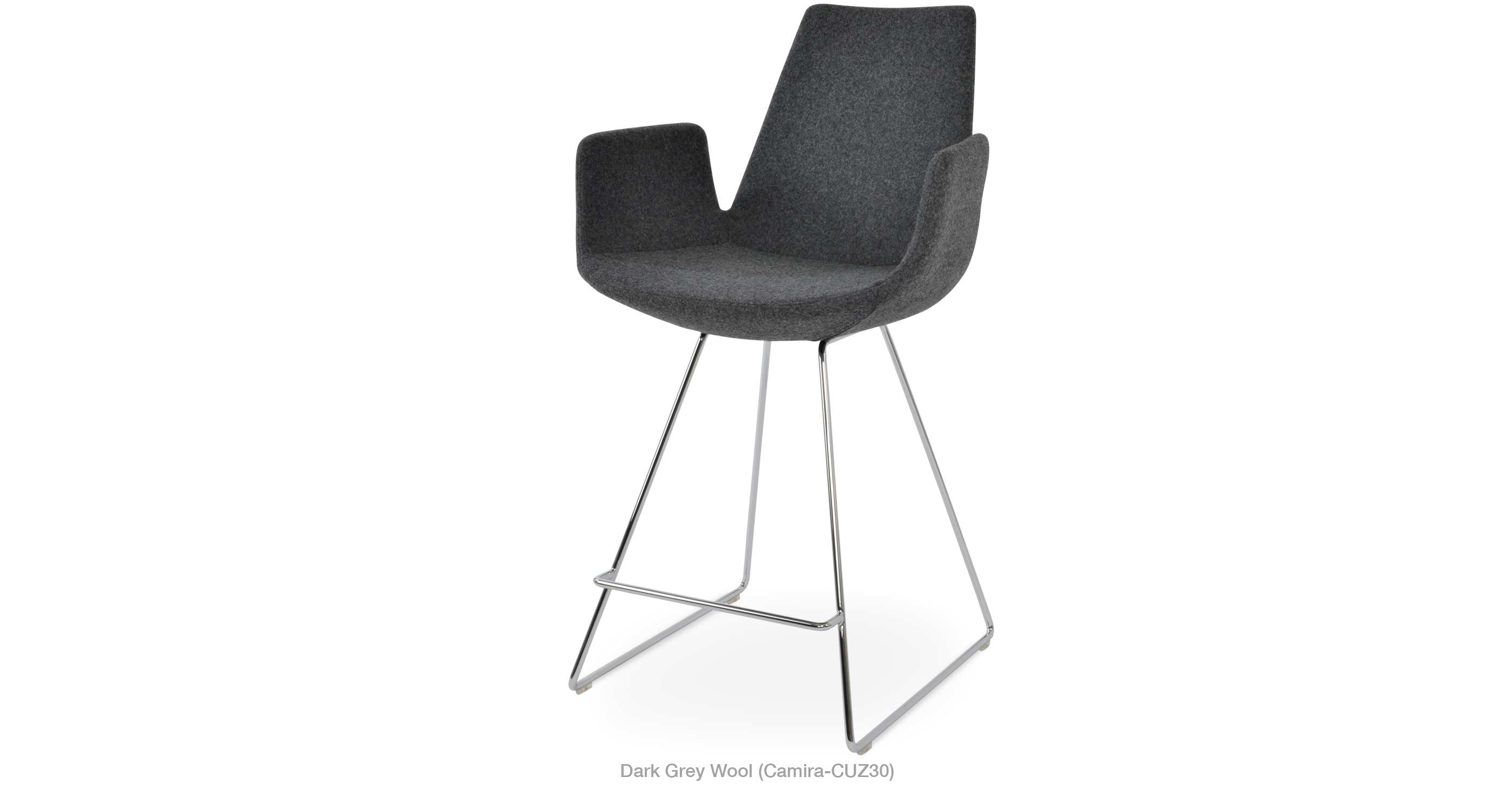 2020 03 05 Eiffel Arm Wire Stool Dark Grey