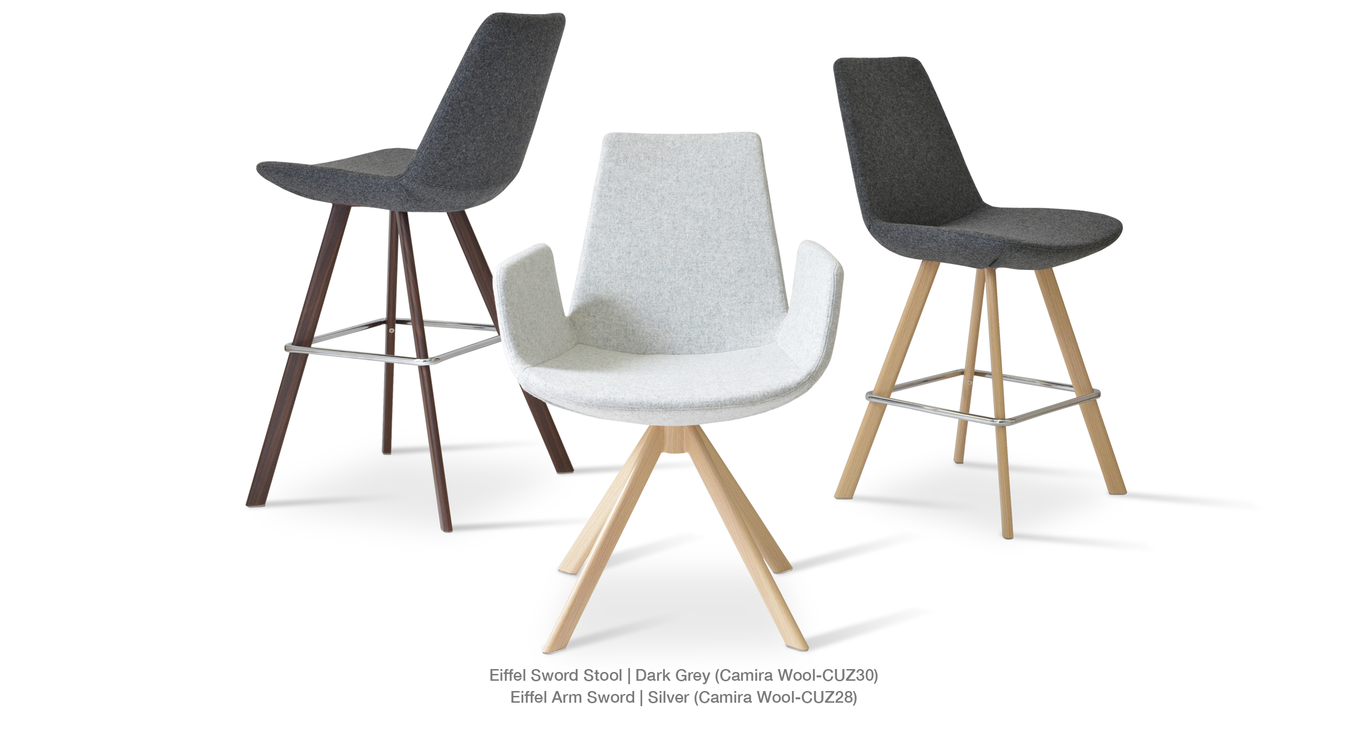 Eiffel Sword Stool And Arm Dining Group