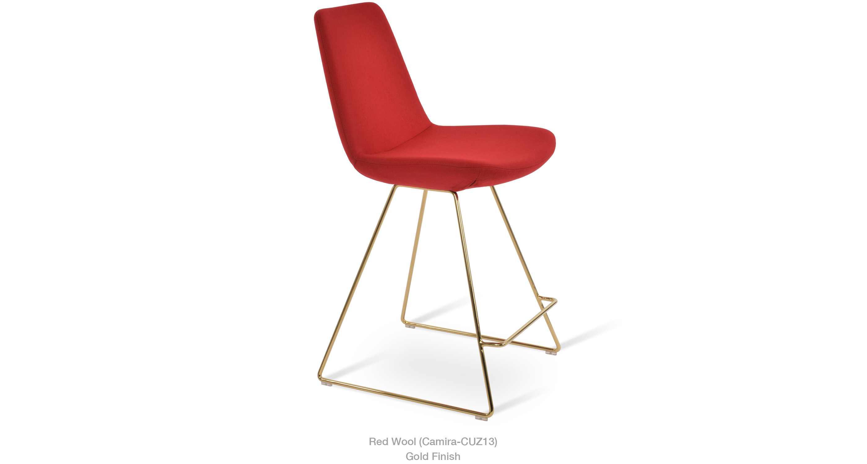 2020 02 20 Eiffel Wire Stool Red Wool Gold