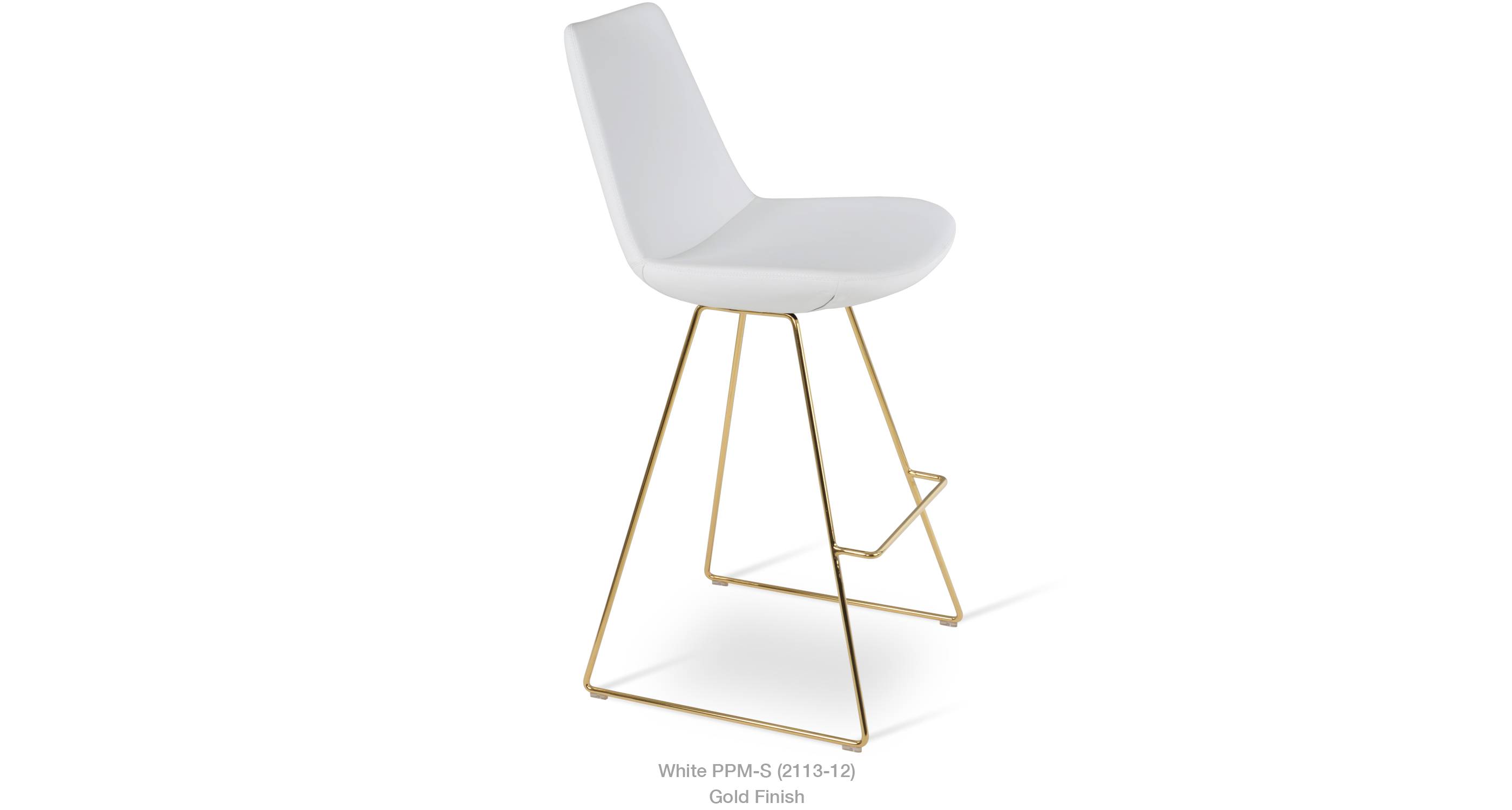 2020 02 20 Eiffel Wire Stool White Ppm Gold