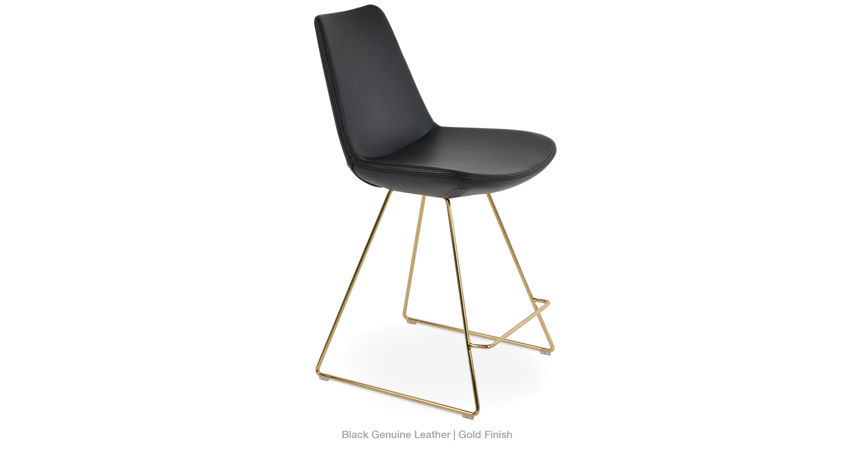 2020 03 22 Eiffel Wire Counter Black Leather Gold