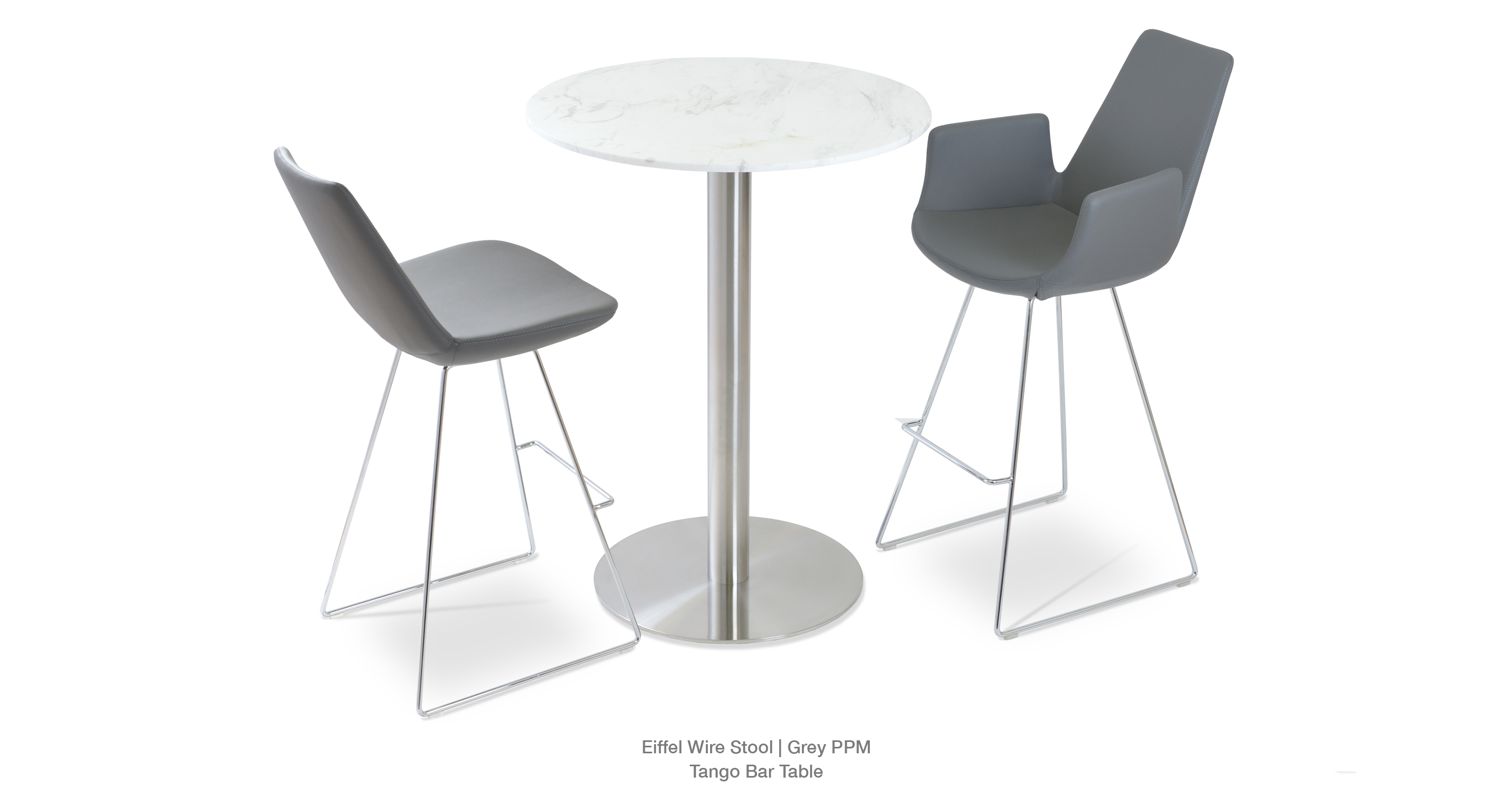Eiffel Wire Stool Grey PPM and Tango Bar