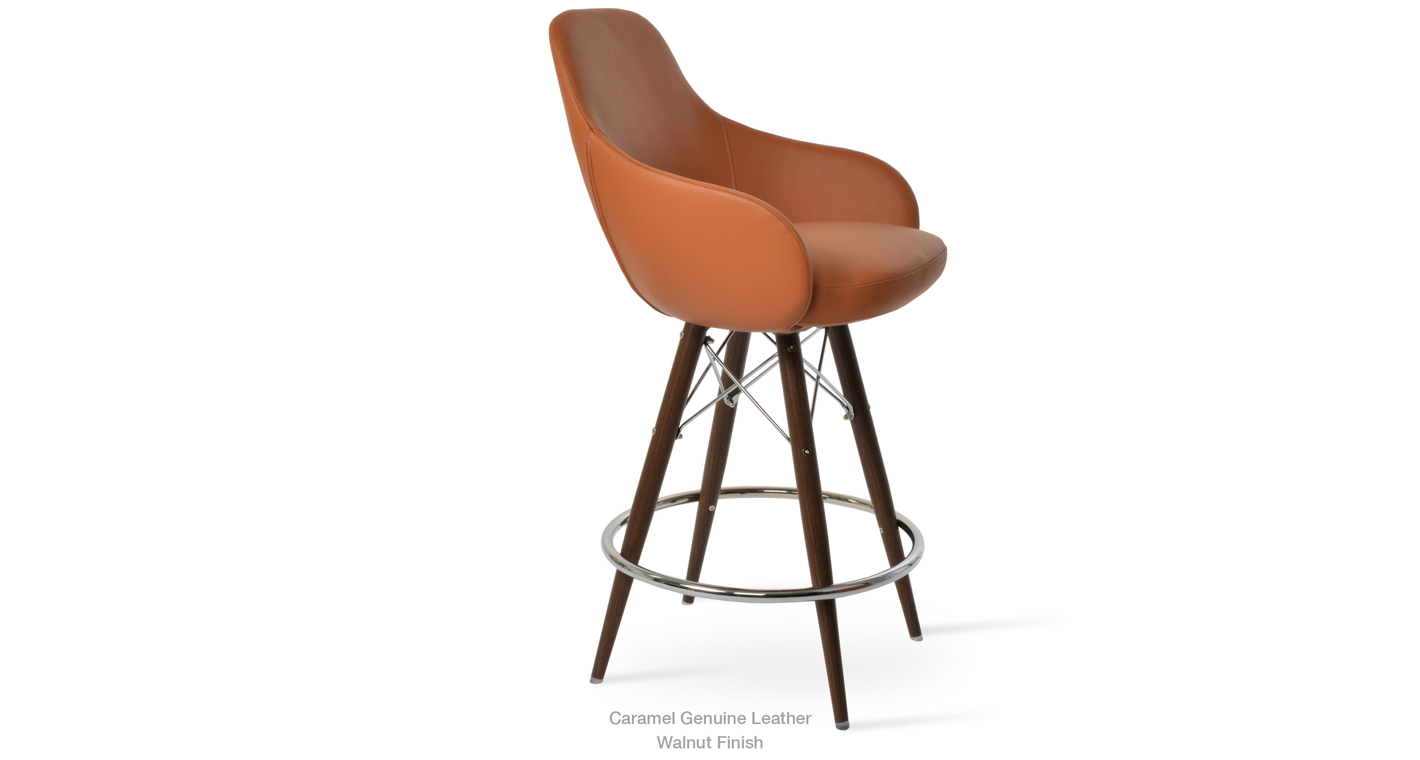 12 11 20 Gazel Arm Mw Stool Caramel Leather