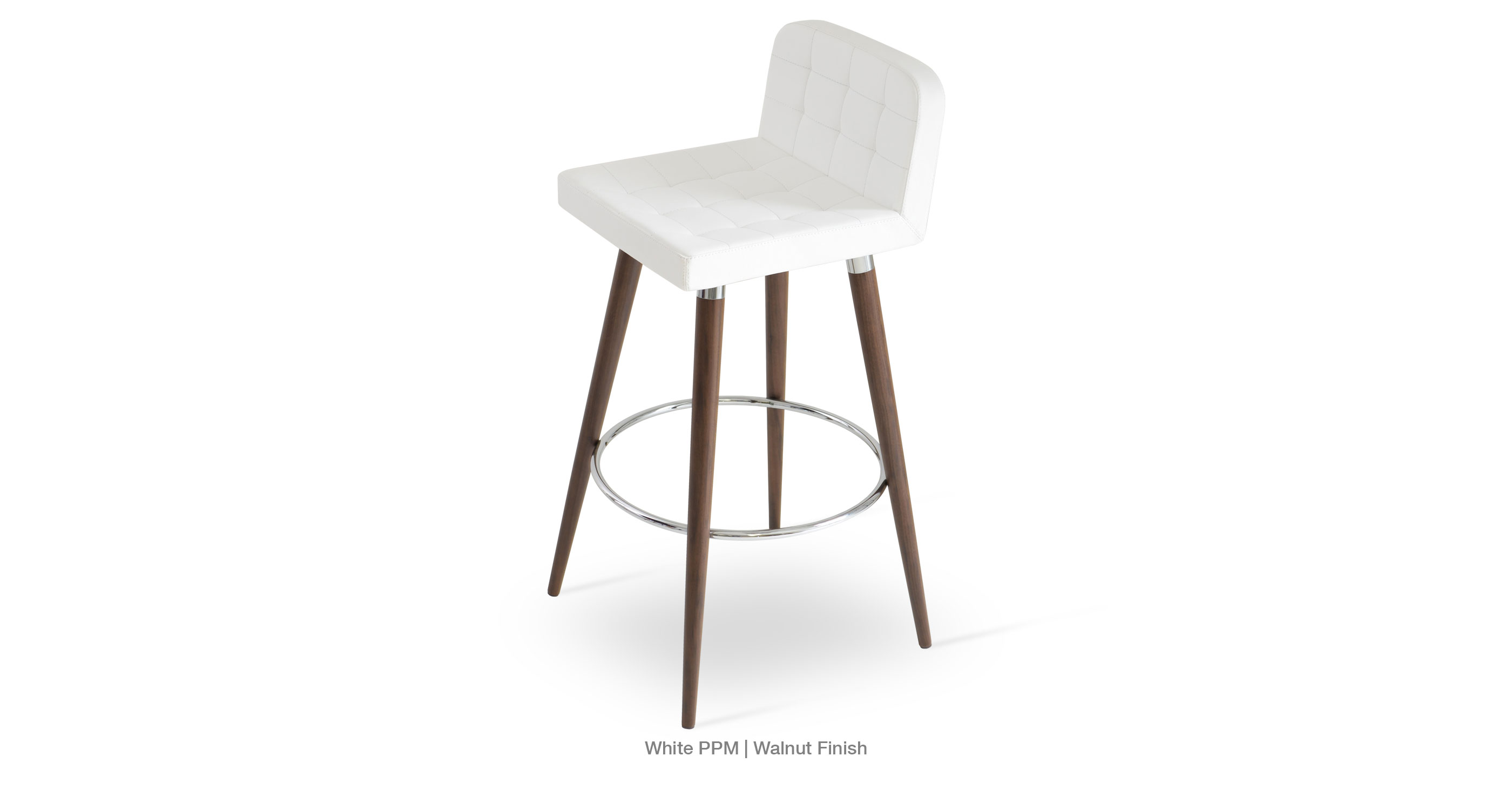 Lara Wood Stool White Ppm