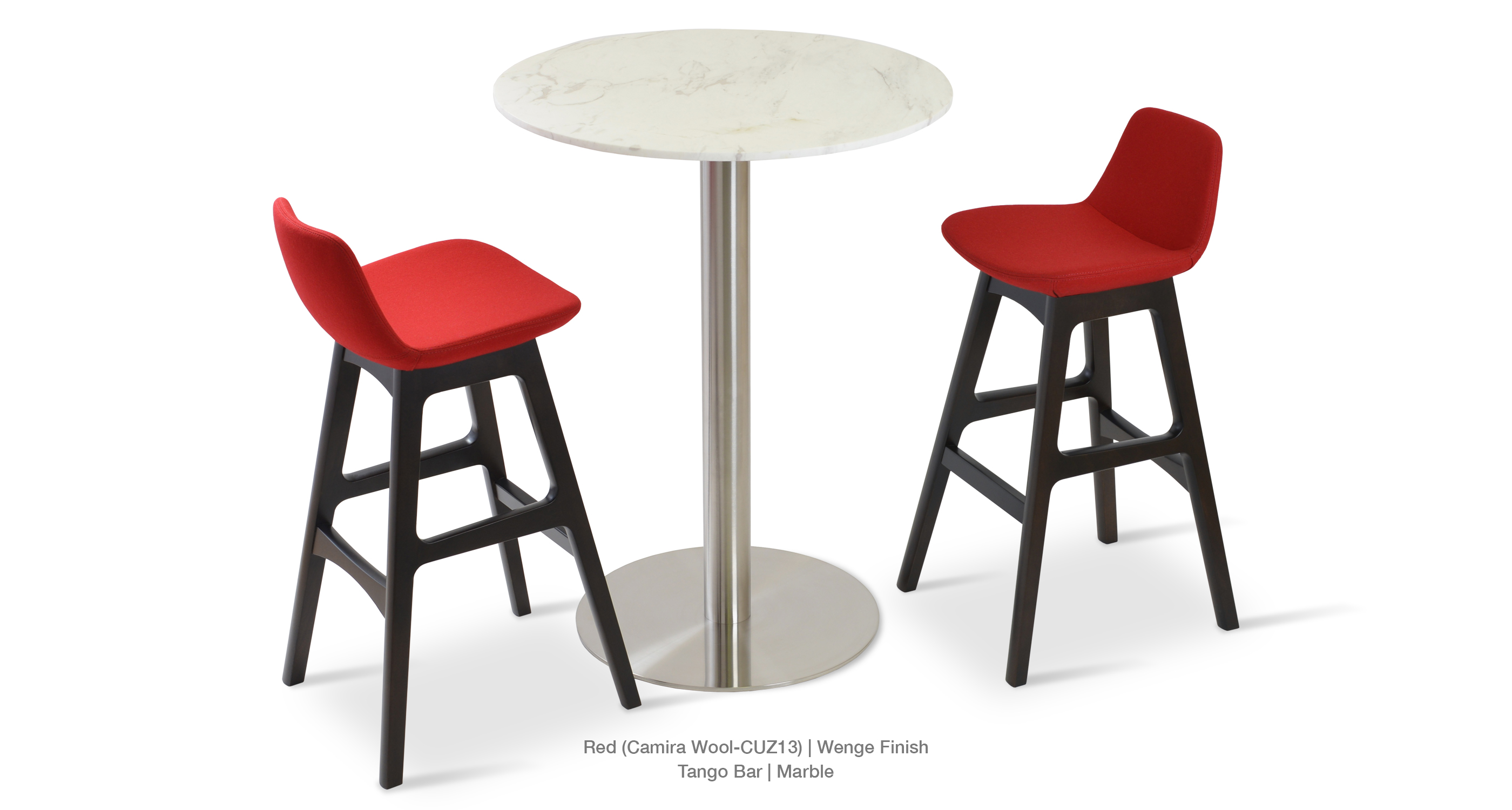 Pera Wood Stool Red Tango Bar