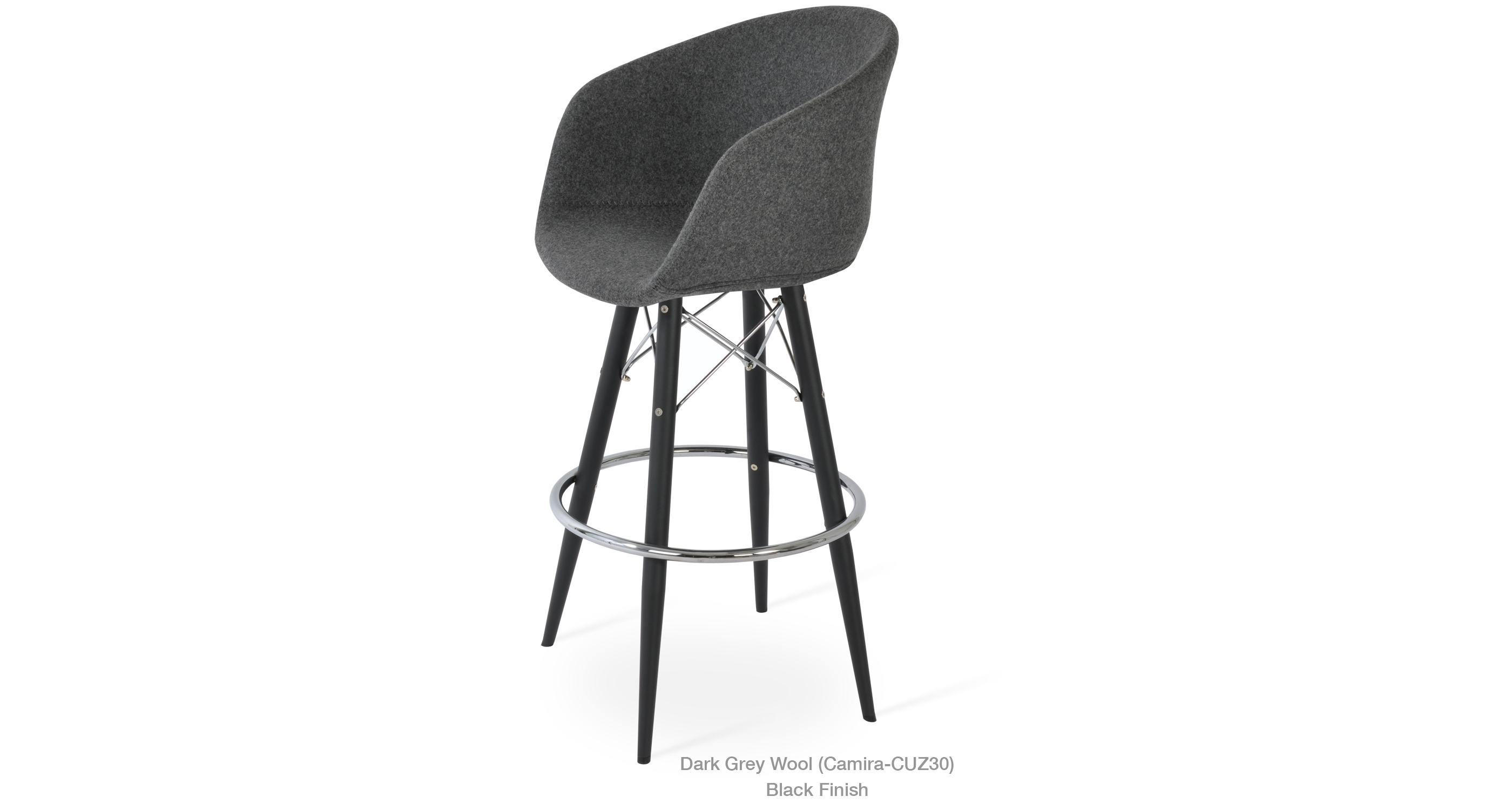 Tribeca Mw Stool Dark Grey Wool