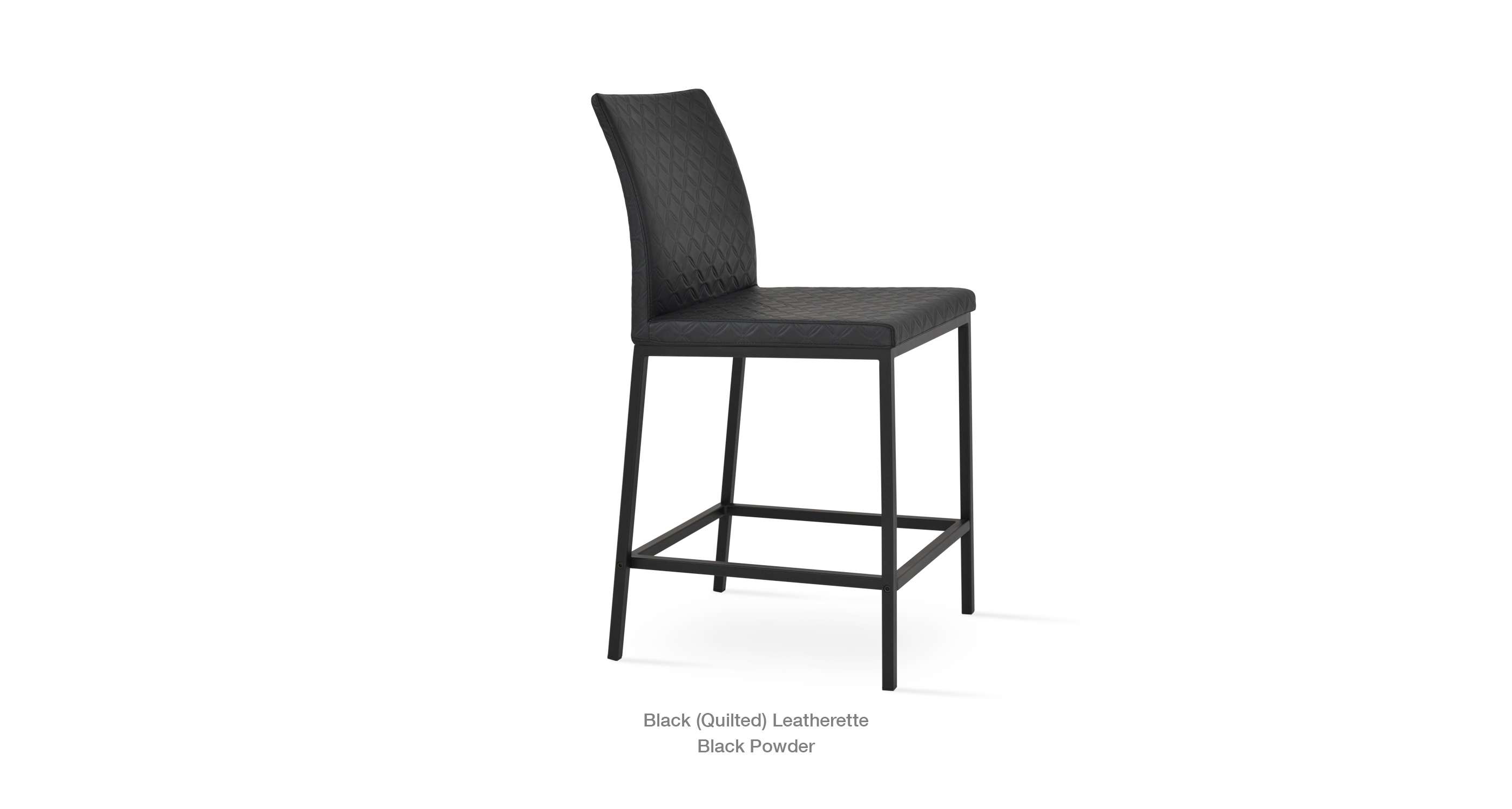 Stool Profile Black Quilted