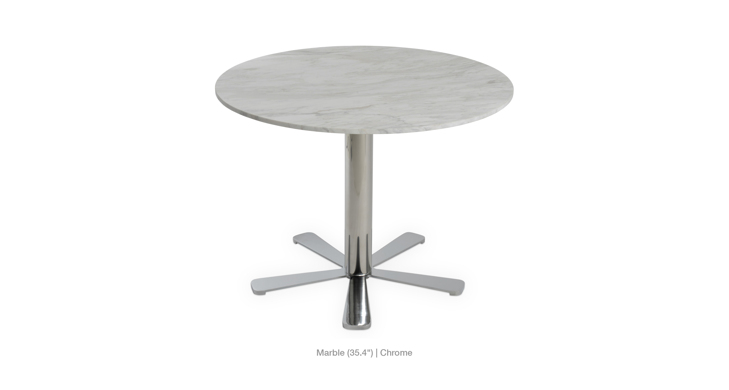 marble top - chrome