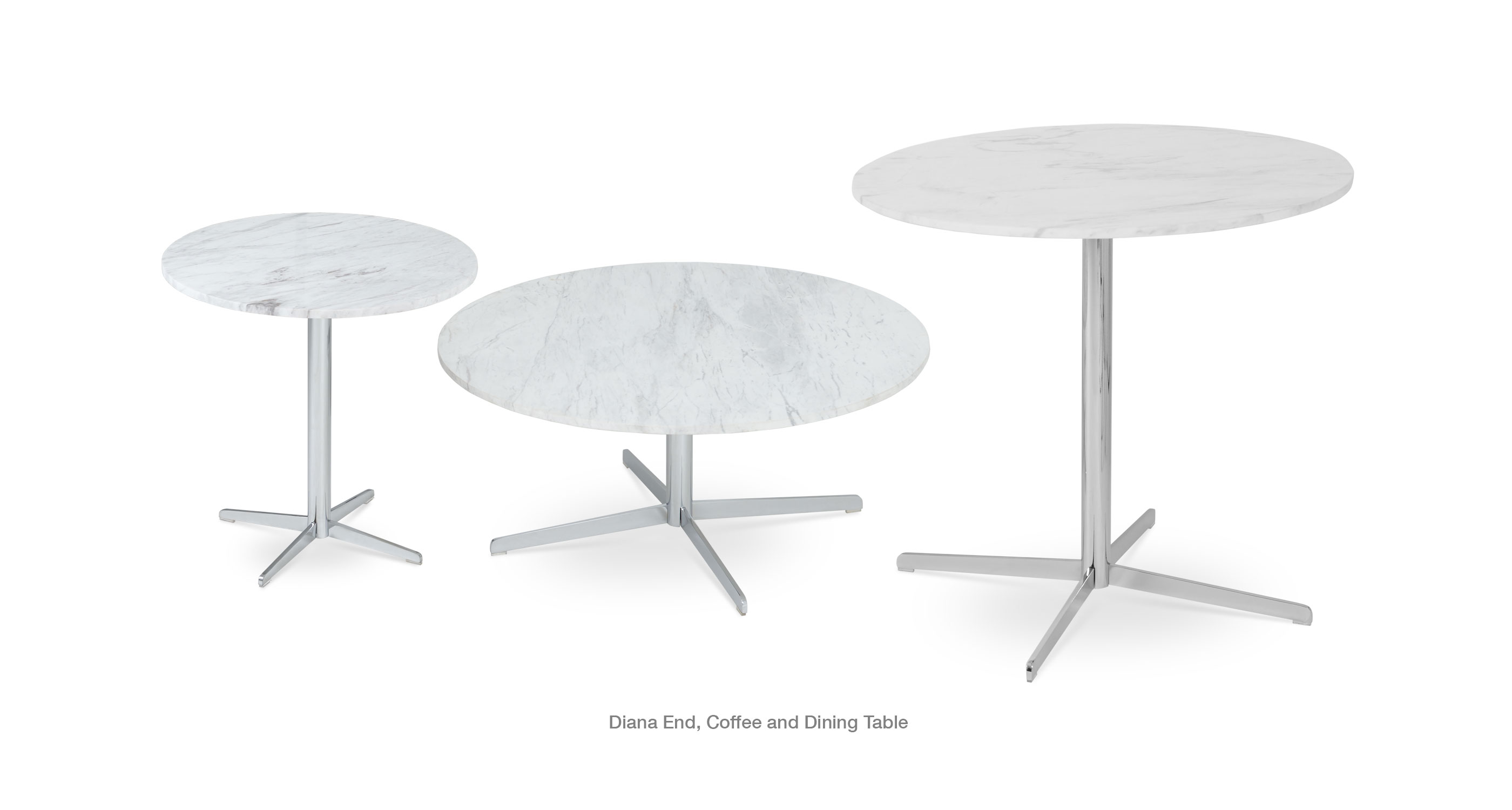 Diana End Coffee Dining Marble