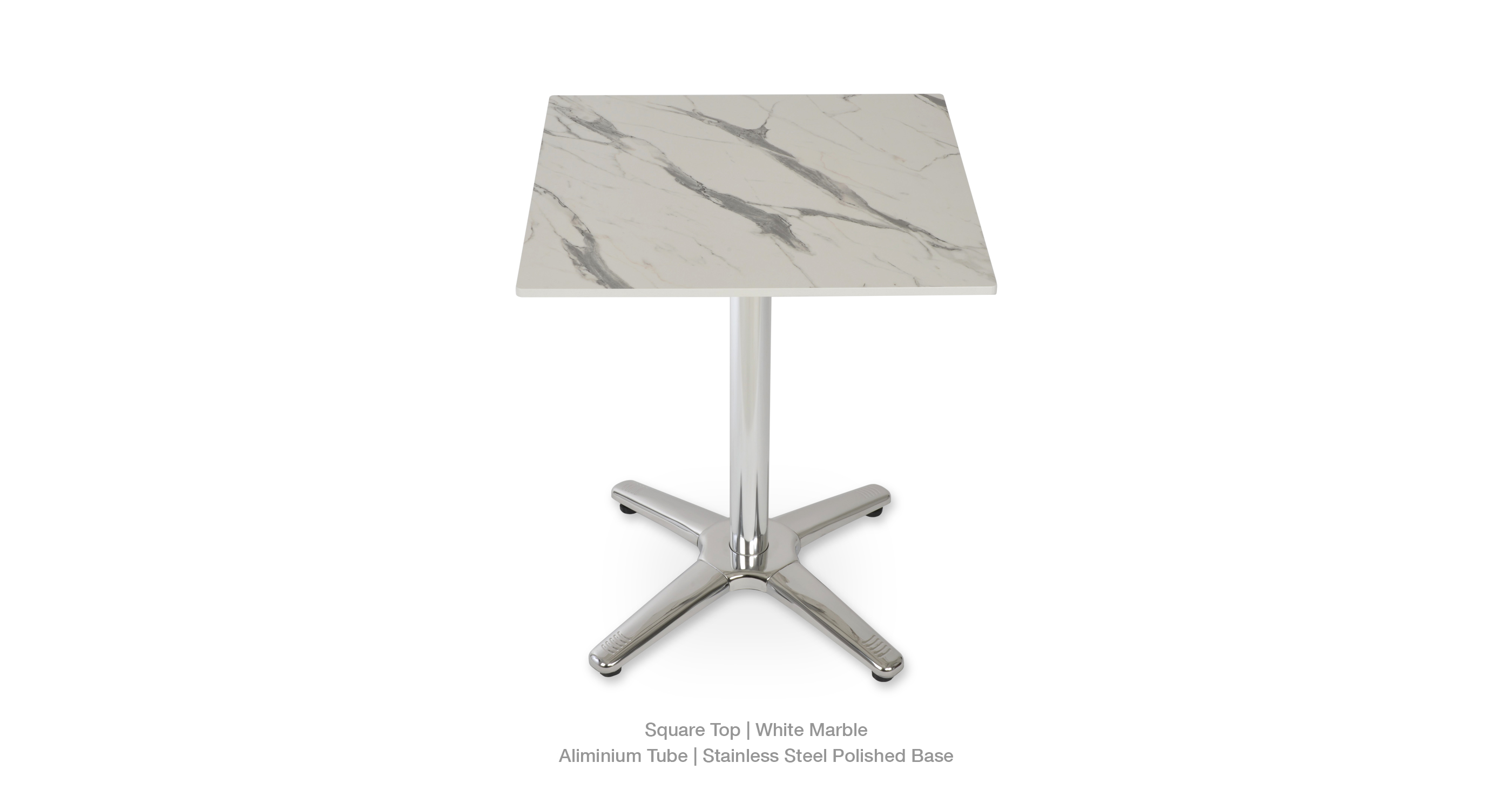 white marble - square