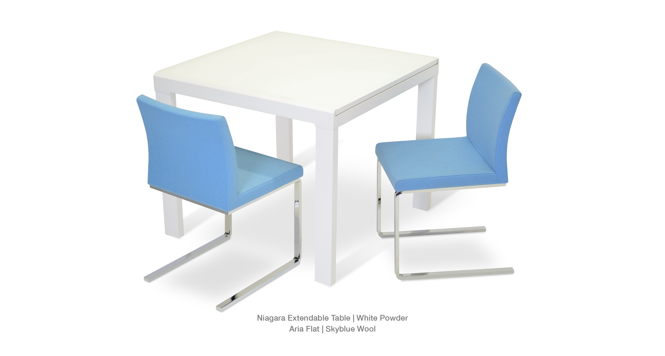 Aria Flat Skyblue Niagara Table