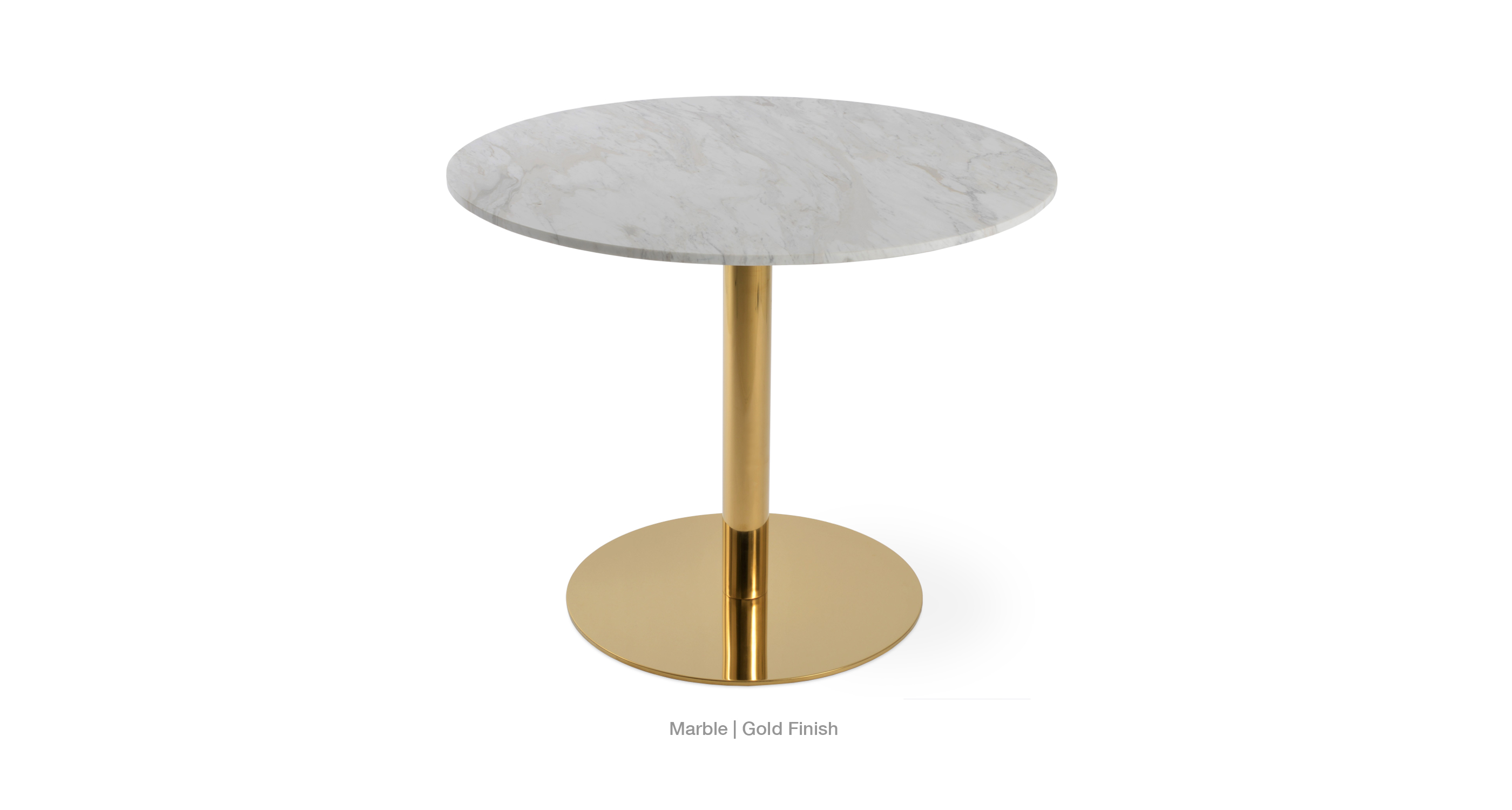 marble top - gold base
