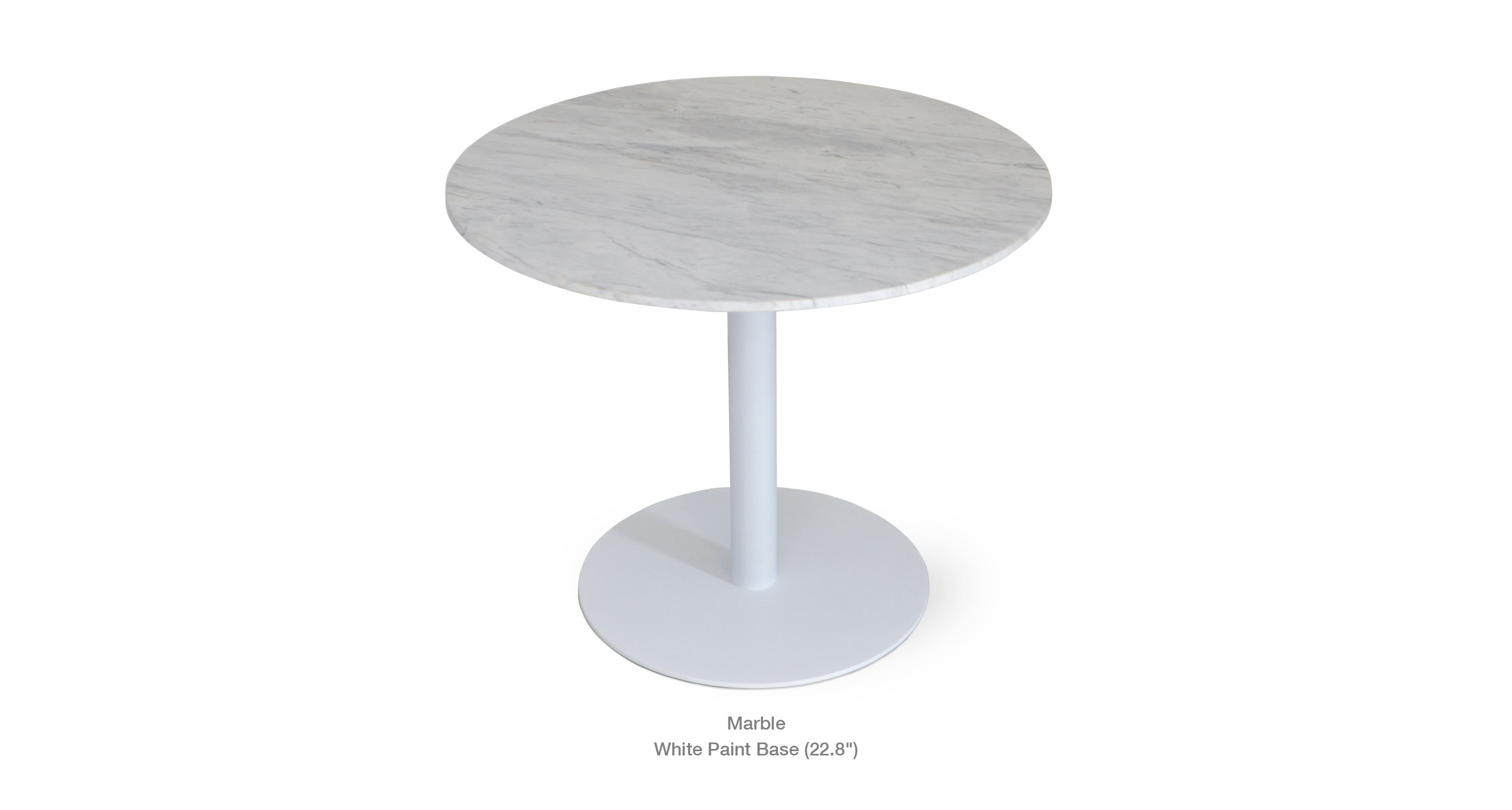 marble top - white base