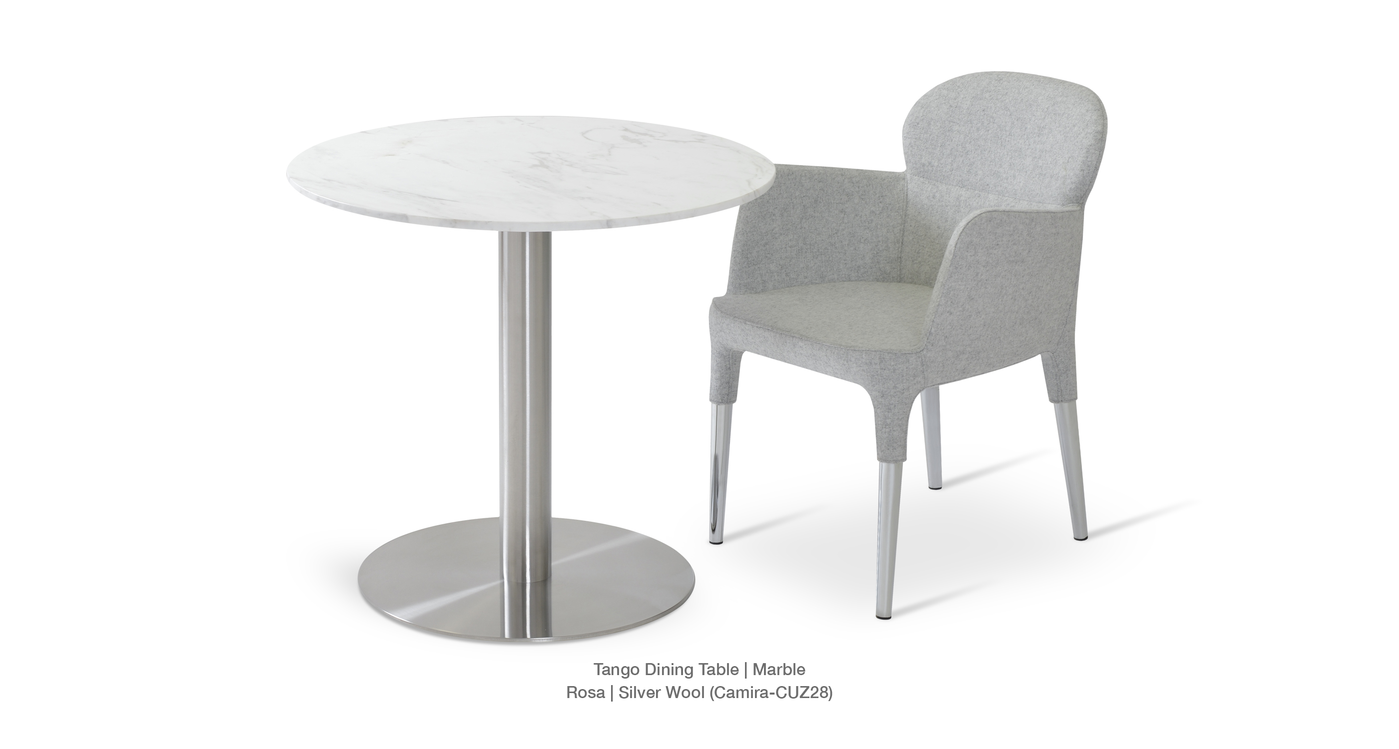 Tango Dining Rosa Silver