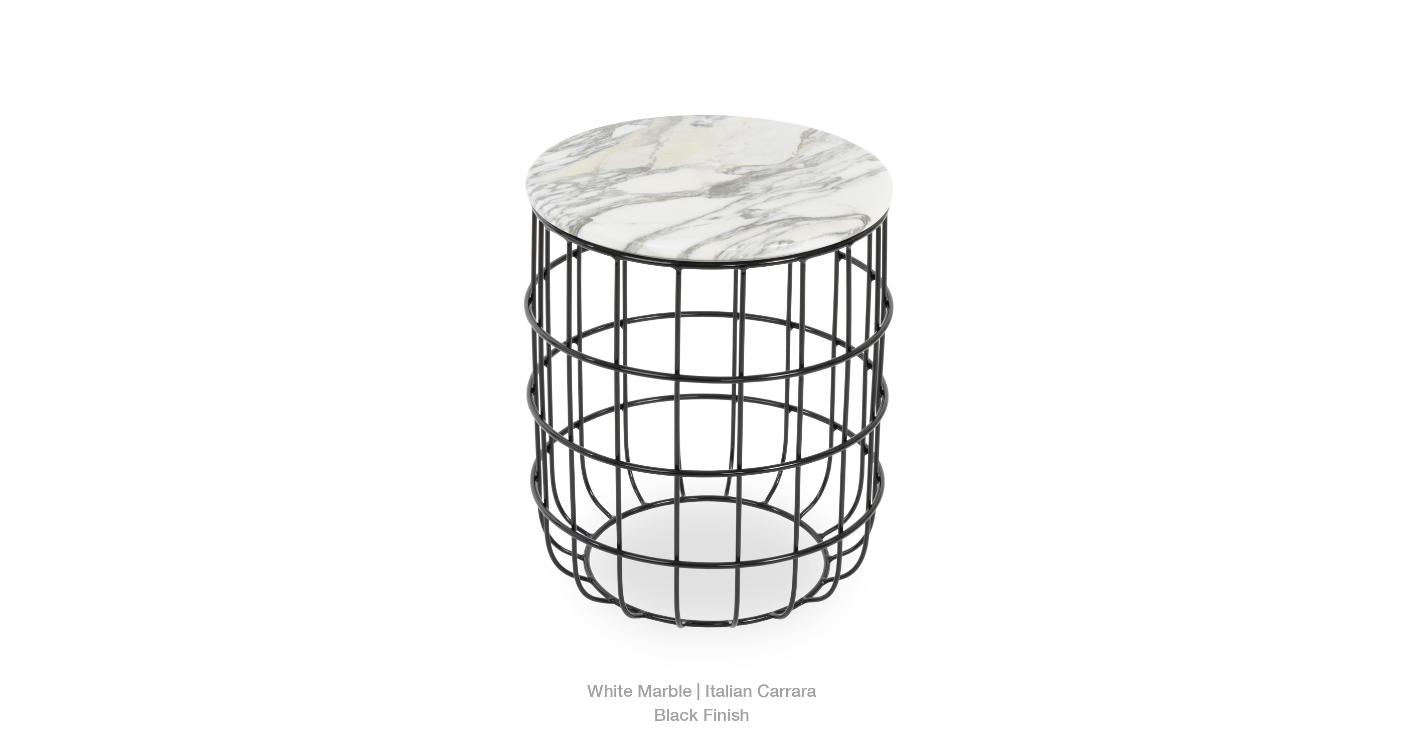 2020 03 24 Violetta End Table White Marble Black