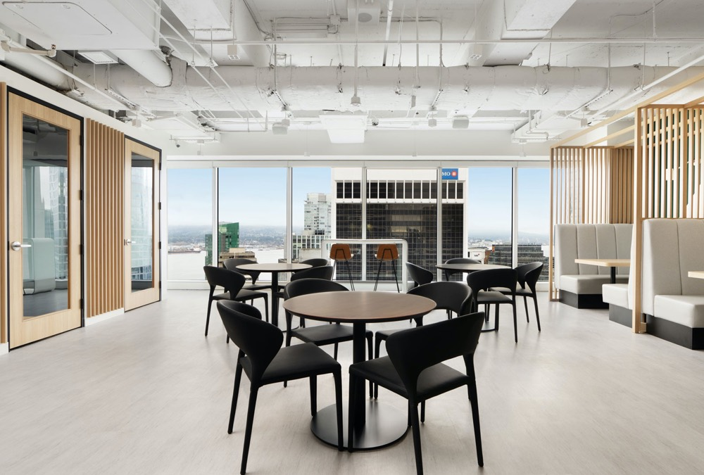 Prada Chair & Tango Dining Table | iQ Offices Vancouver