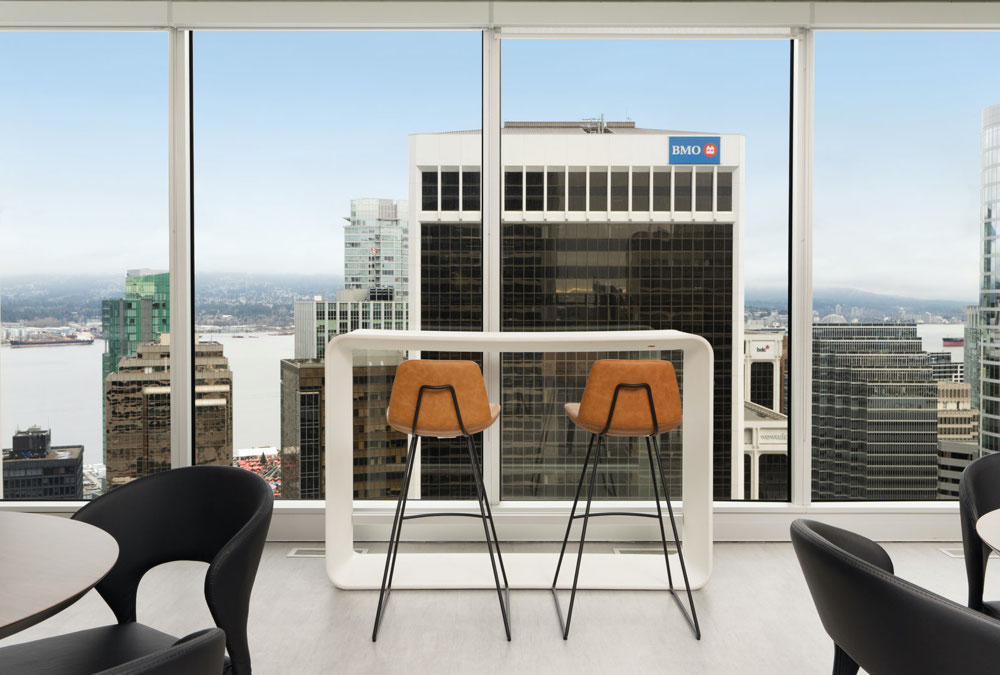 Pera HB Stools, Prada Chair & Tango Dining Table | iQ Offices Vancouver
