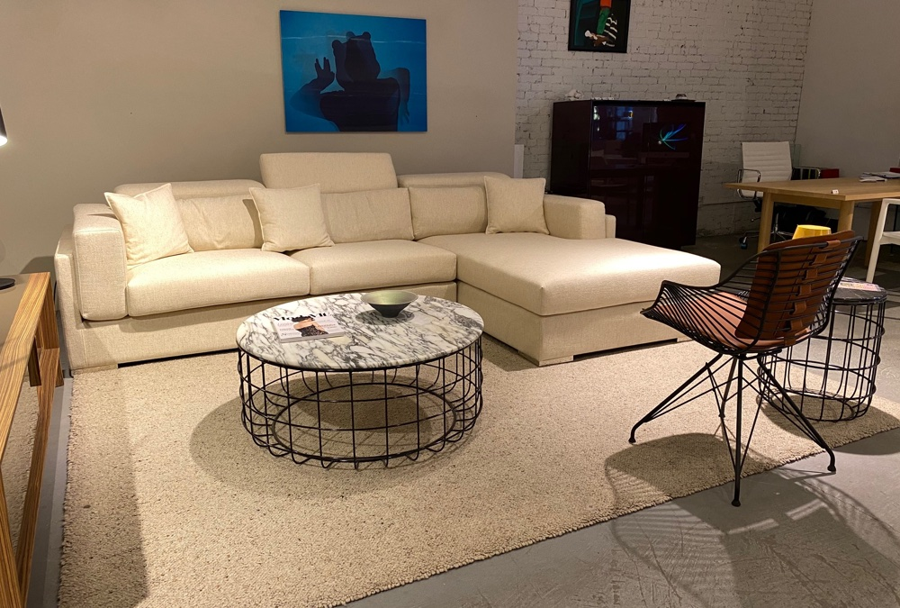 Hollywood Sectional, Zebra Chair, Violetta Coffee Table | Cite NYC