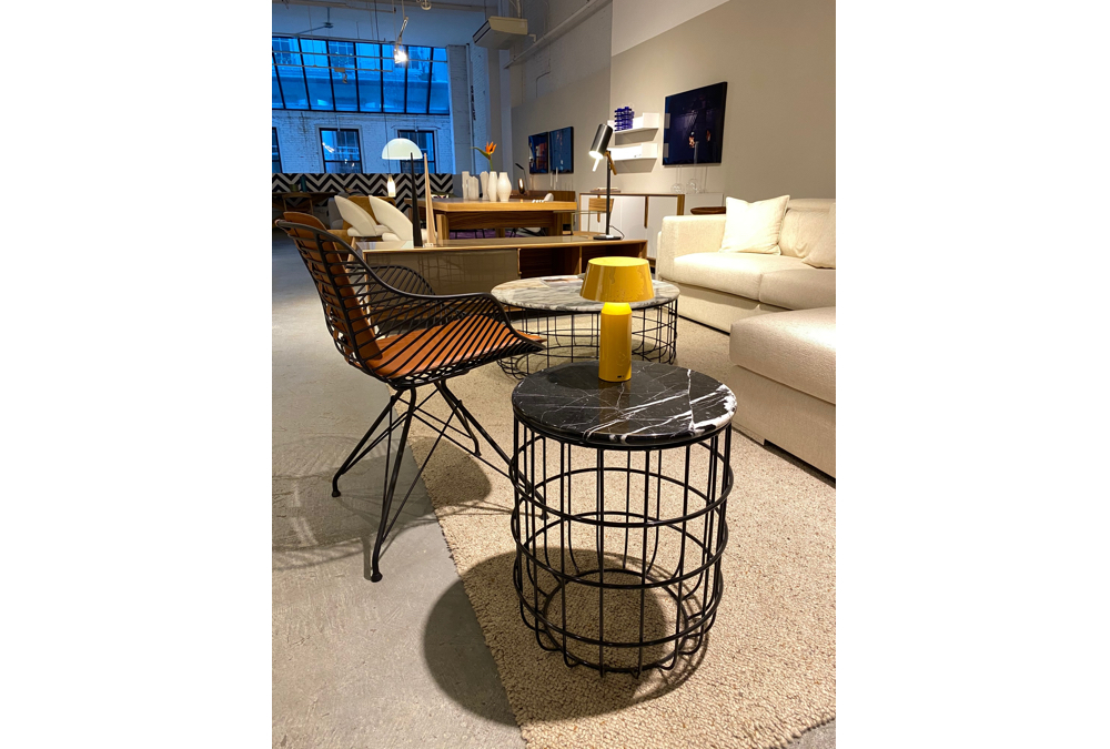 Zebra Chair, Violetta End Table  | Cite NYC