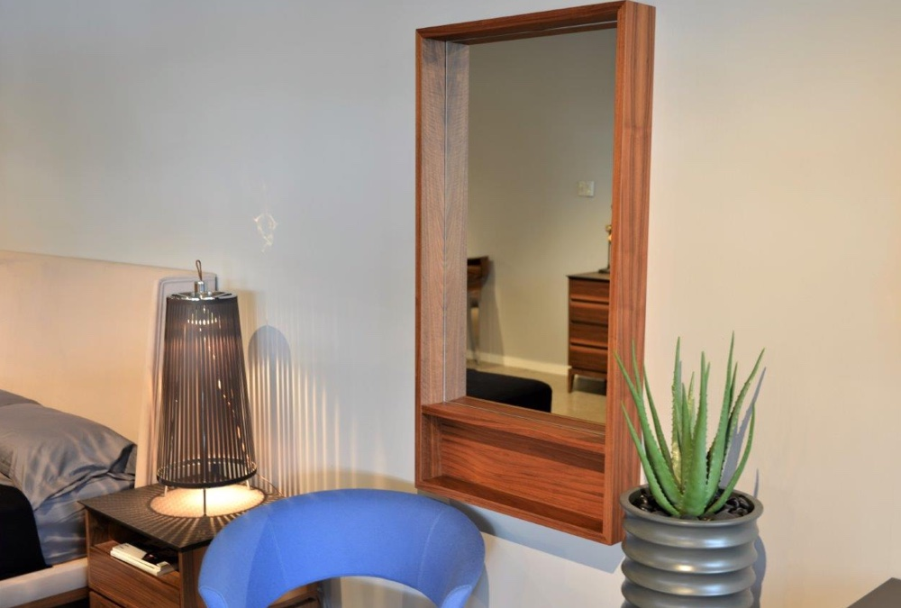 Malta Mirror With Shelf | Pera Design, Paramus NJ