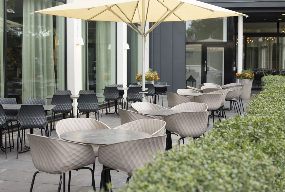 Spice Up Patios with Modern Et Al's Metal Chairs